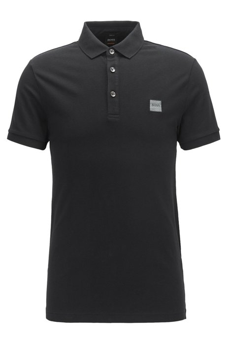 ed8882305563 BOSS - Polo Slim Fit en piqué de coton stretch