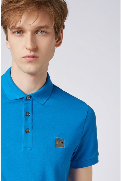 Hugo Boss - Slim-fit polo shirt in stretch cotton piqué - 4