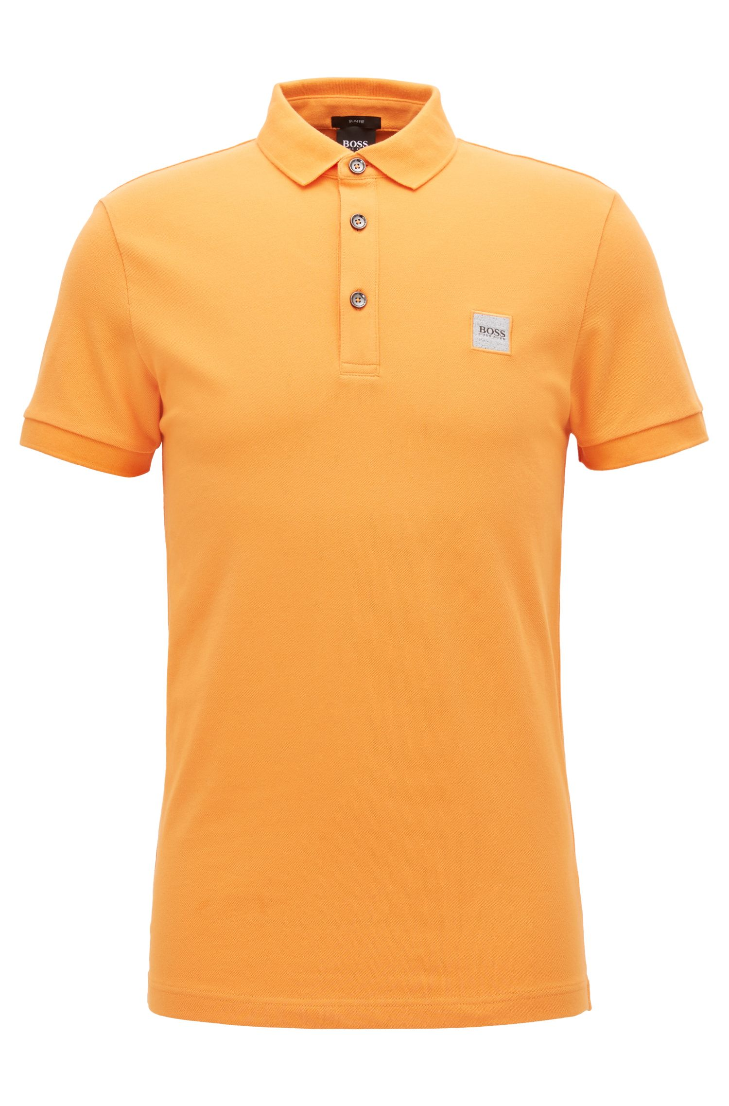 Polo Slim Fit en piqué de coton stretch