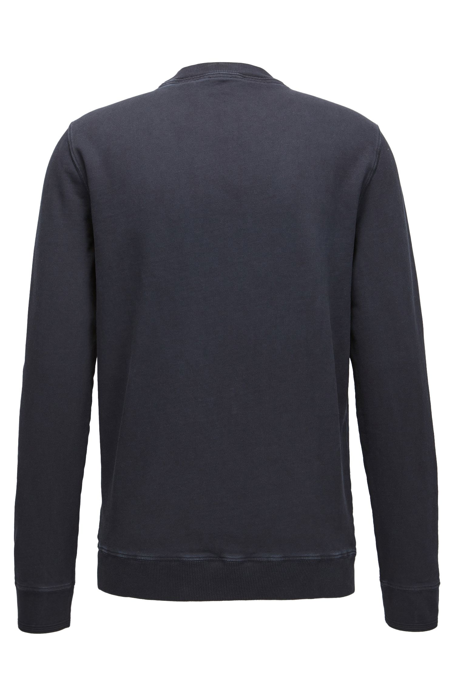Logo sweater in garment-dyed cotton