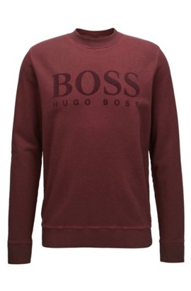 Linen-blend sweater with half-cardigan structure BOSS Discount For Nice j0qVcJqGc