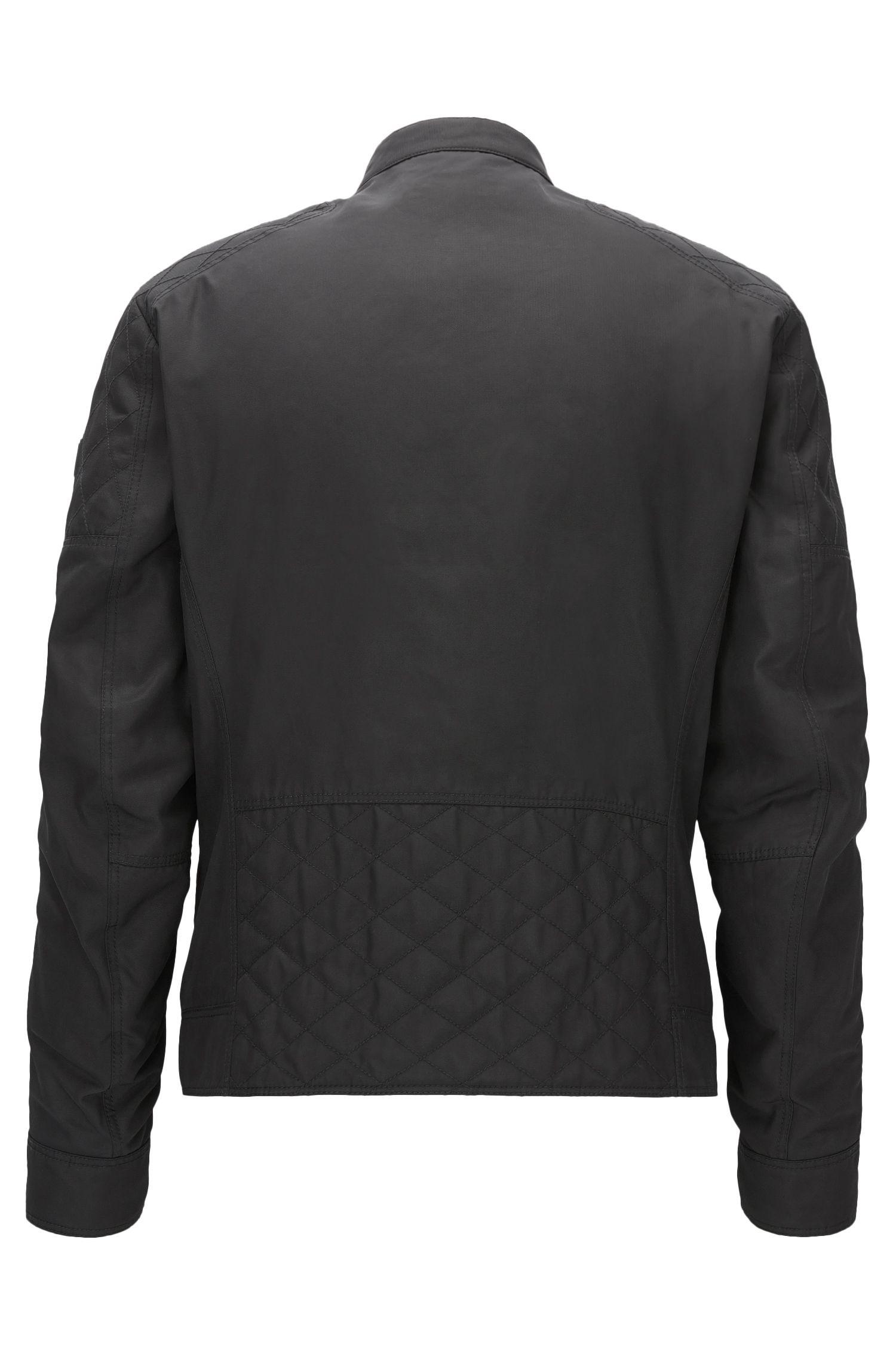 Slim-fit jas van gewaxt canvas met PrimaLoft®