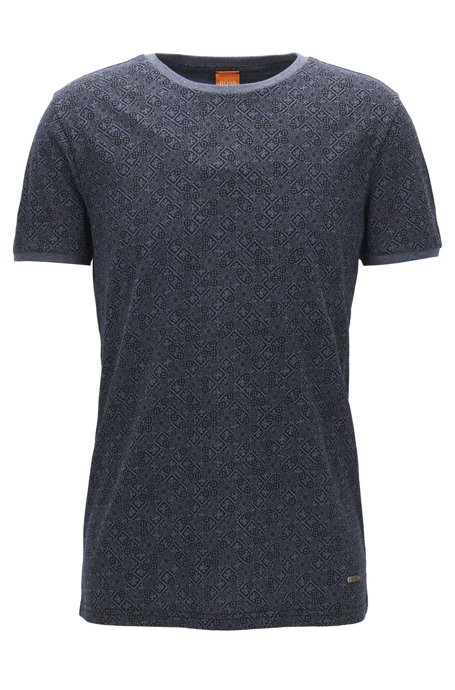Printed cotton T-shirt in a regular fit