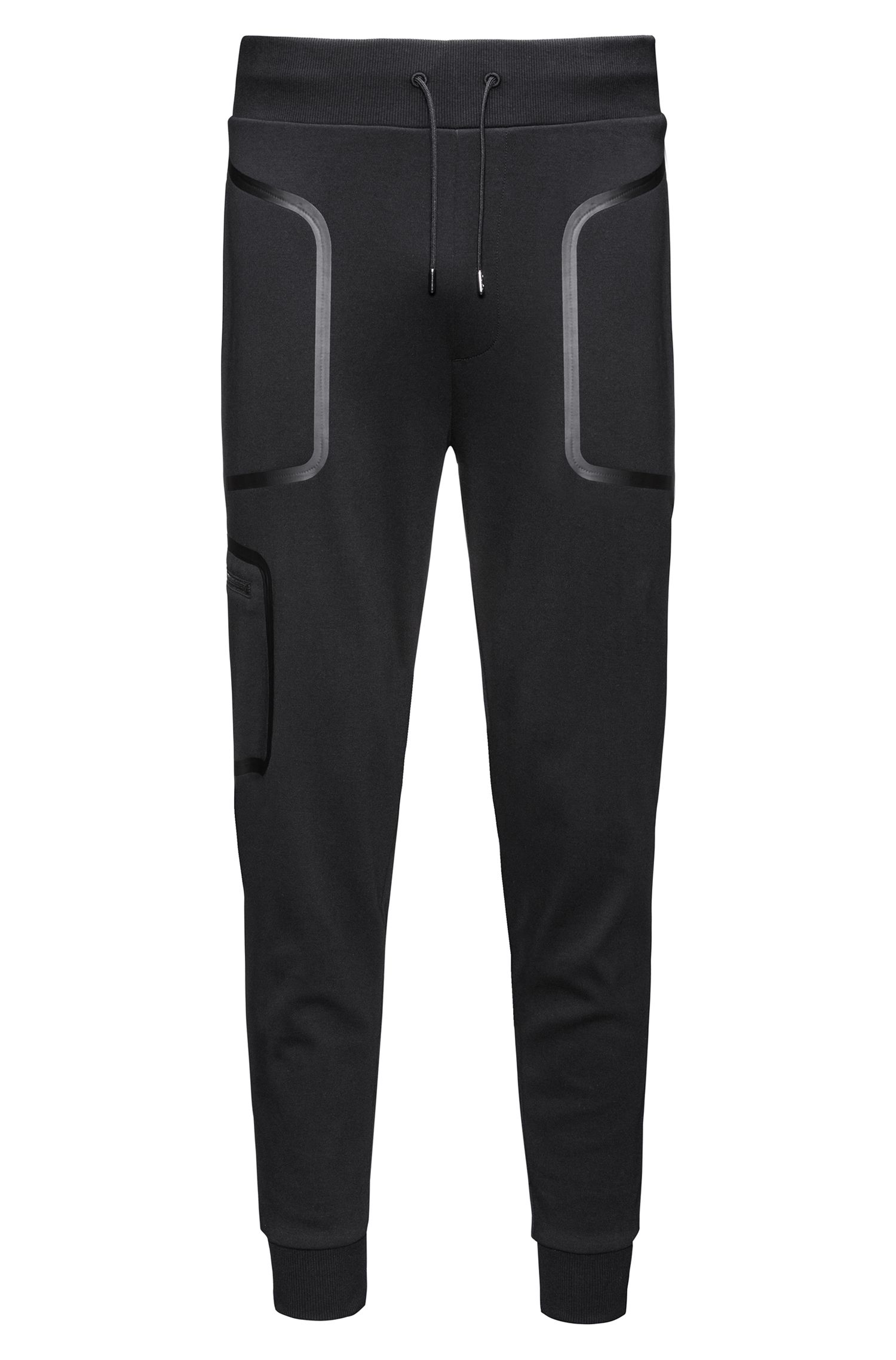 Relaxed-fit jogging bottoms in interlock cotton