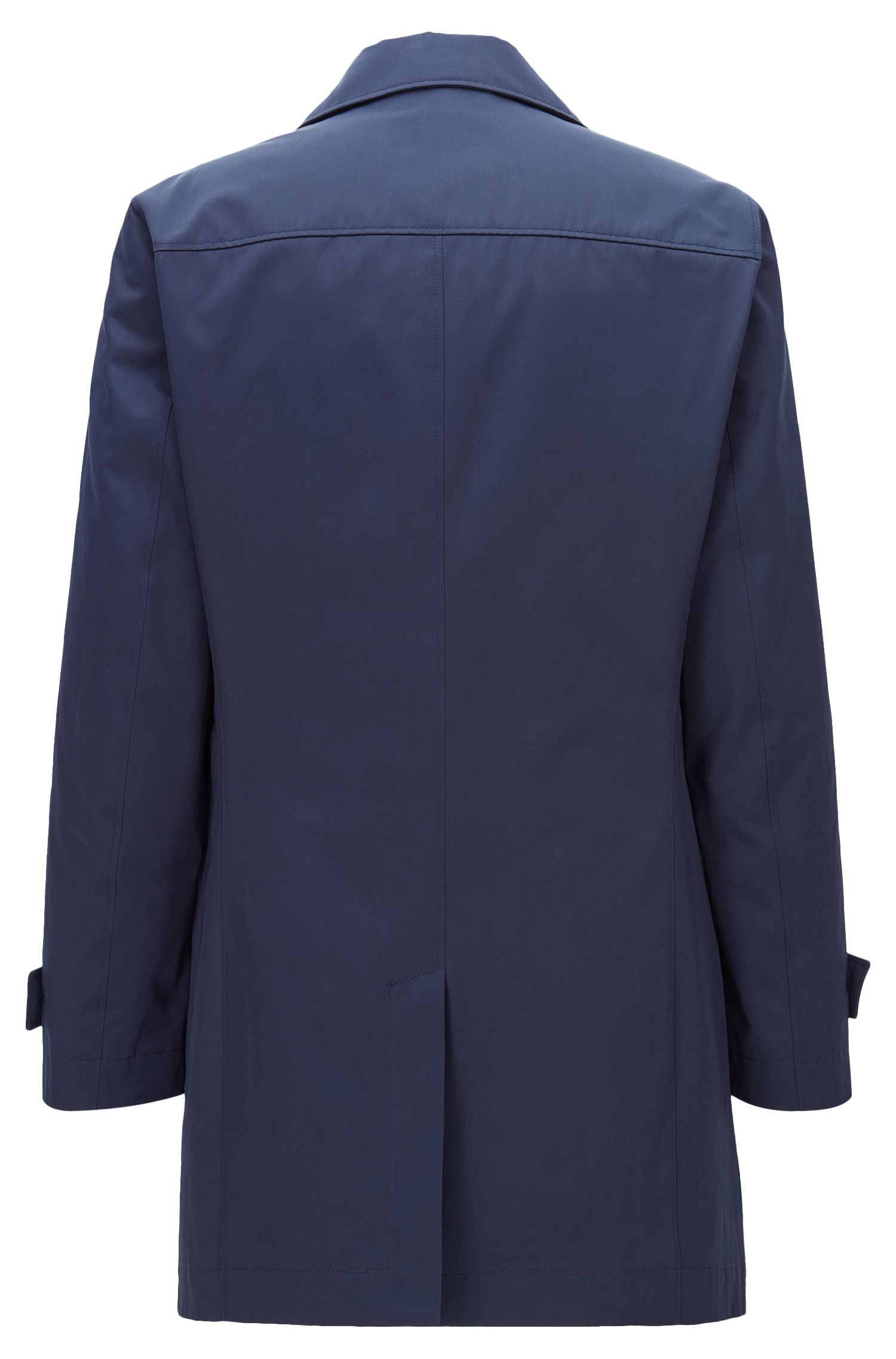 Cappotto slim fit in twill idrorepellente