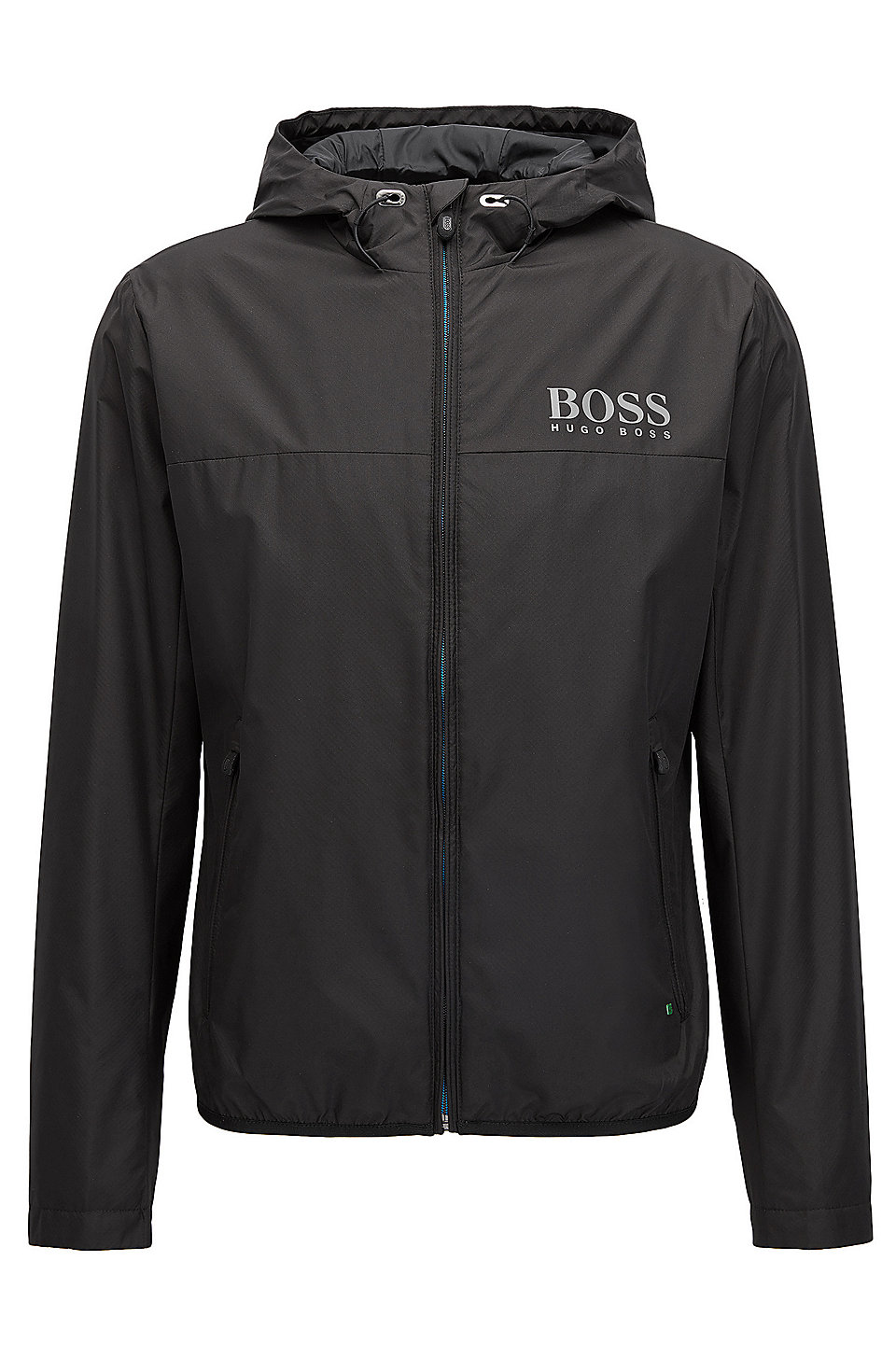 Water-resistant regular-fit jacket in technical fabric, Black