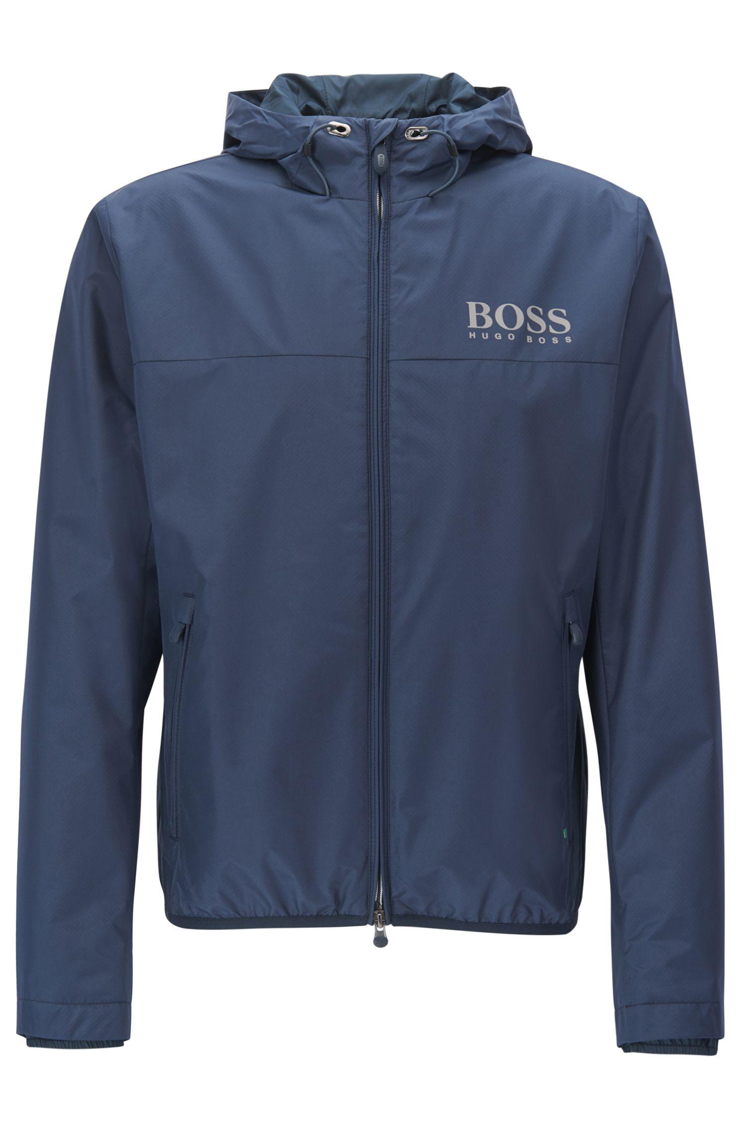 Regular-fit jas van technisch, waterafstotend materiaal
