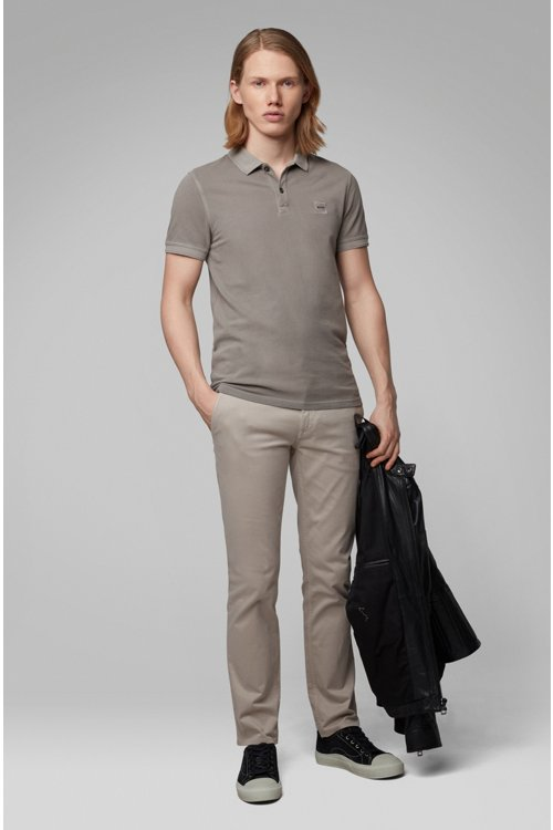 Hugo Boss - Slim-fit polo shirt in washed cotton piqué - 2