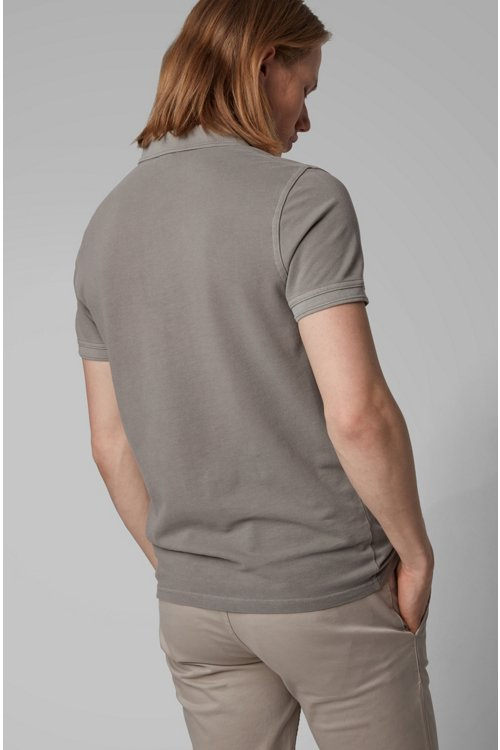 Hugo Boss - Slim-fit polo shirt in washed cotton piqué - 5