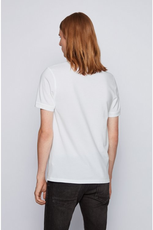 Hugo Boss - Slim-fit polo shirt in washed cotton piqué - 4