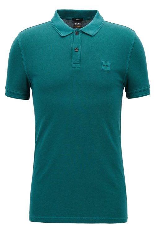 Hugo Boss - Slim-fit polo shirt in washed cotton piqué - 1