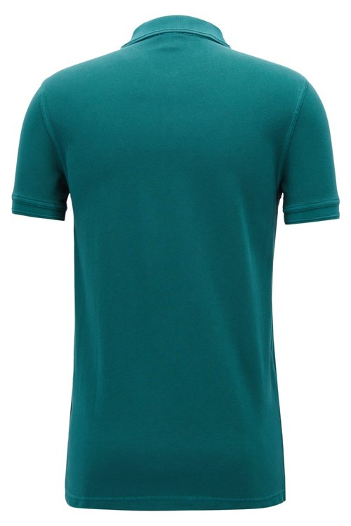 Hugo Boss - Slim-fit polo shirt in washed cotton piqué - 3