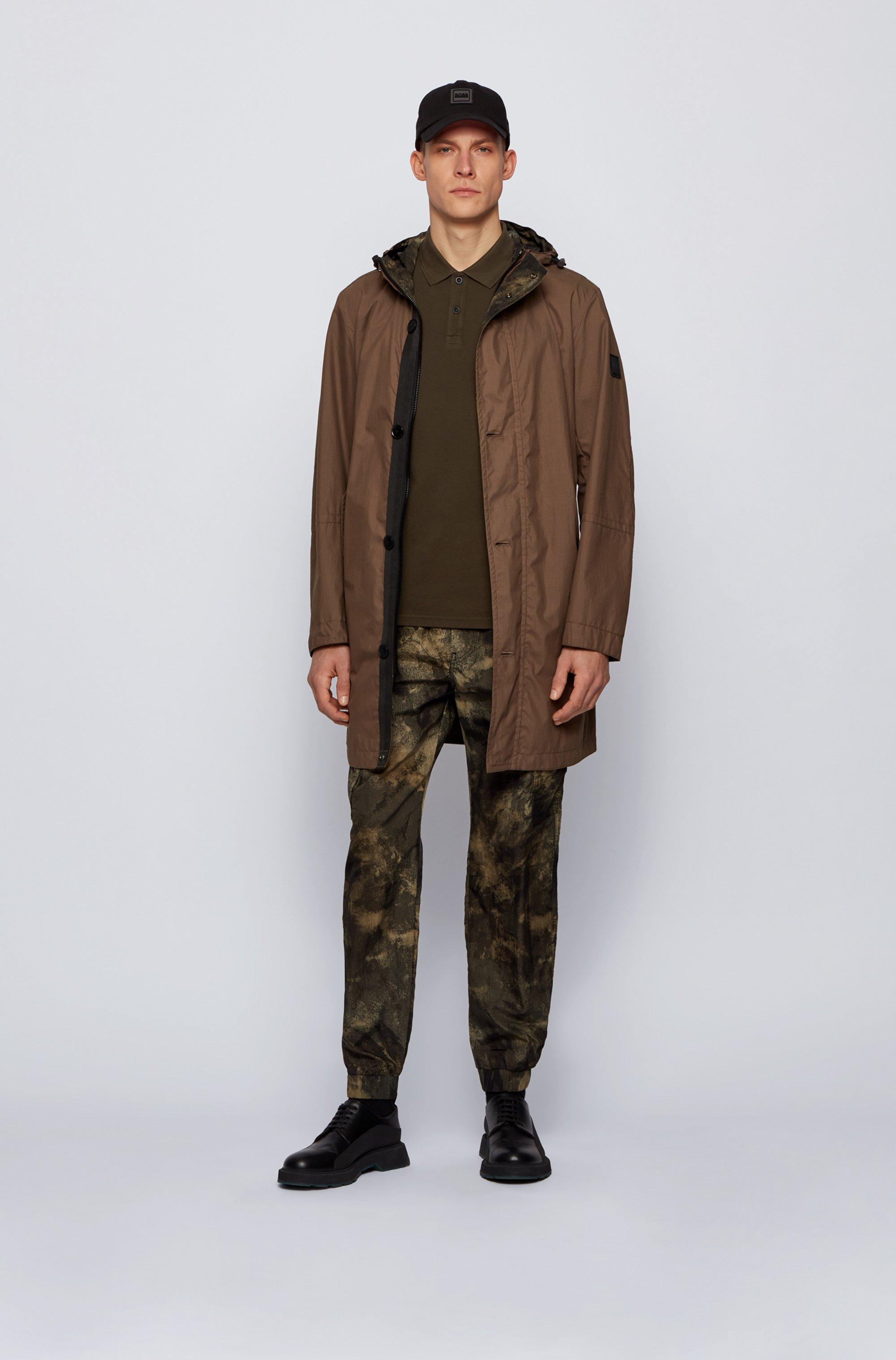 Slim-Fit Poloshirt aus gewaschenem Baumwoll-Piqué
