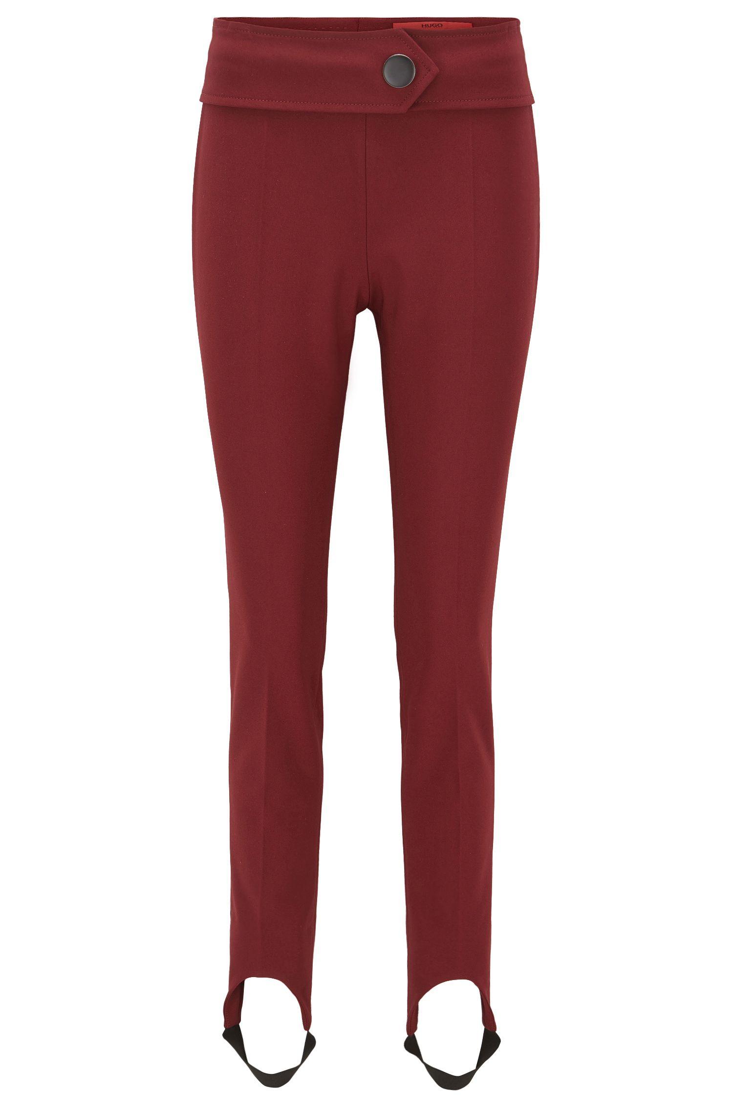 Pantalon Skinny Fit en coton stretch mélangé avec étriers