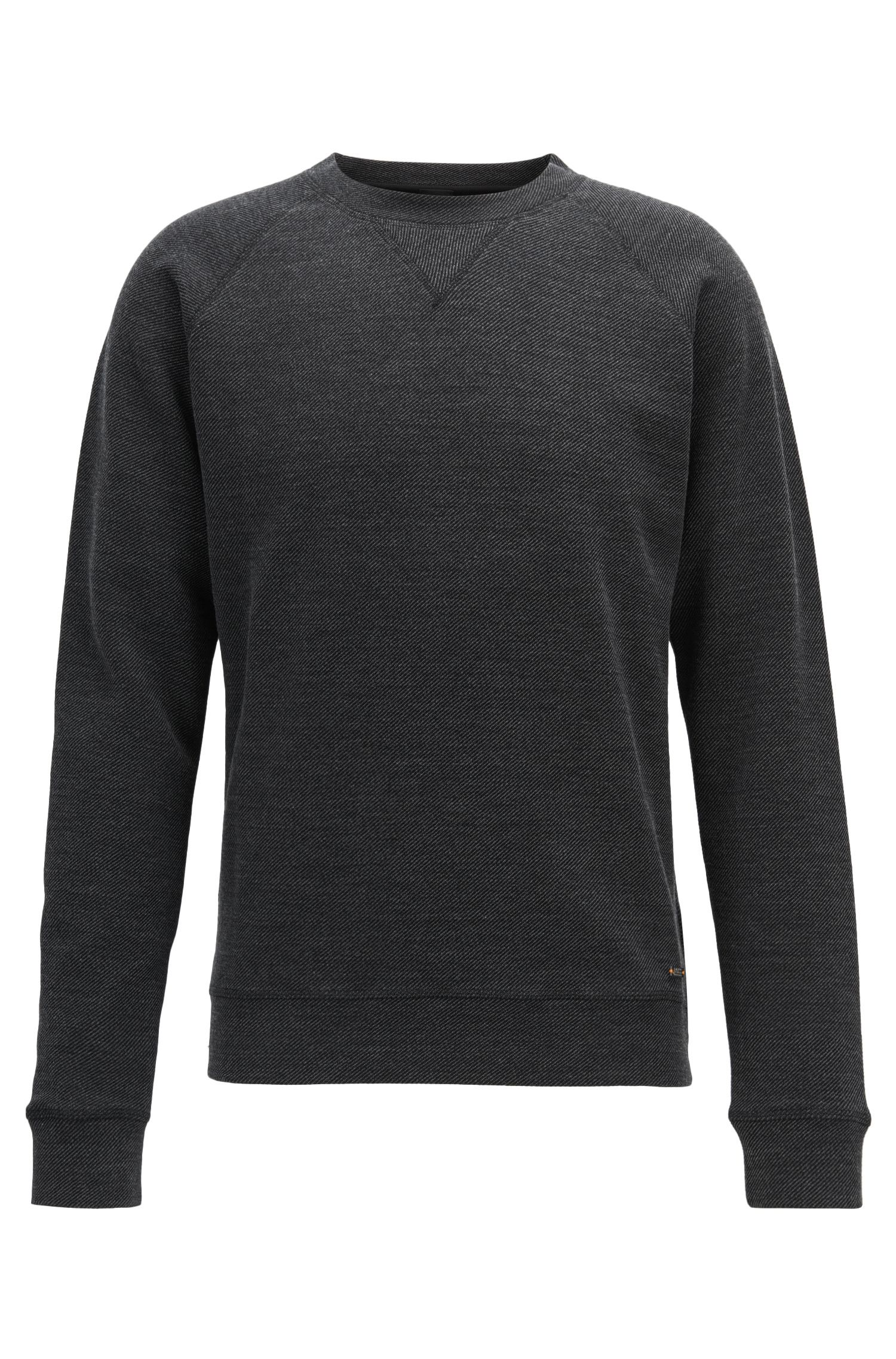 Crew-neck sweatshirt in a structured cotton blend