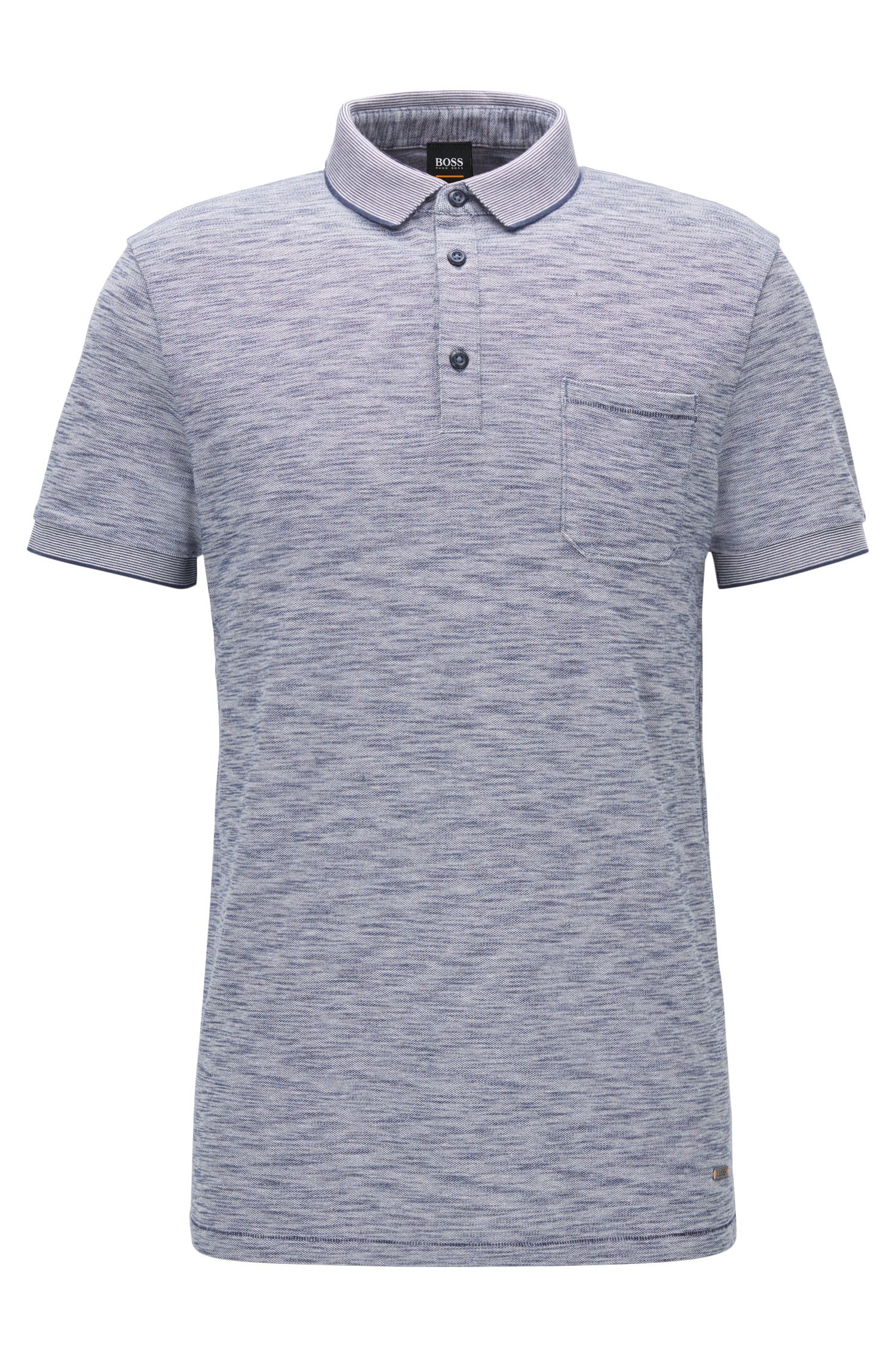 Regular-Fit Poloshirt aus elastischem Baumwoll-Piqué