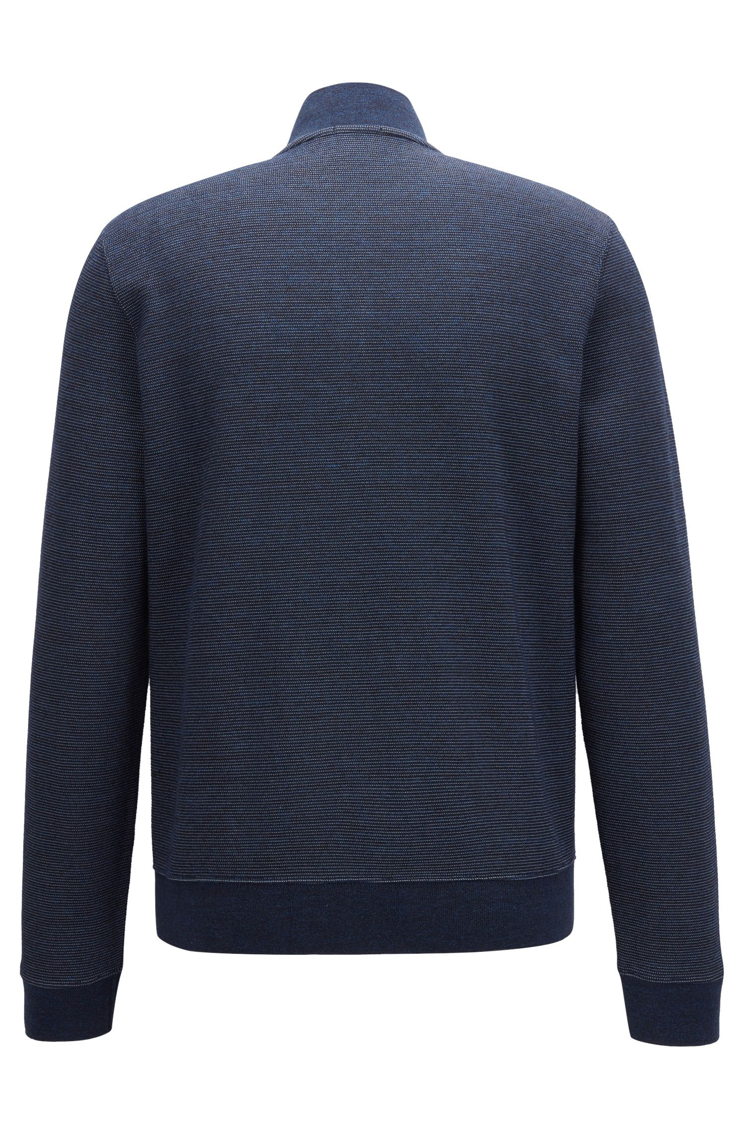 Slim-fit colbert van een two-tone katoenmix