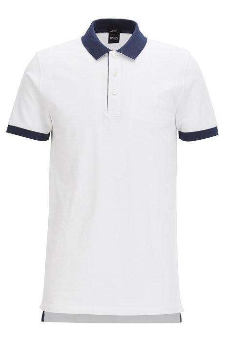 HUGO BOSS Polo Slim Fit en piqué de coton aux finitions contrastantes Confortable Vente En Ligne Boutique D'expédition Pour HGUKsoTb0y