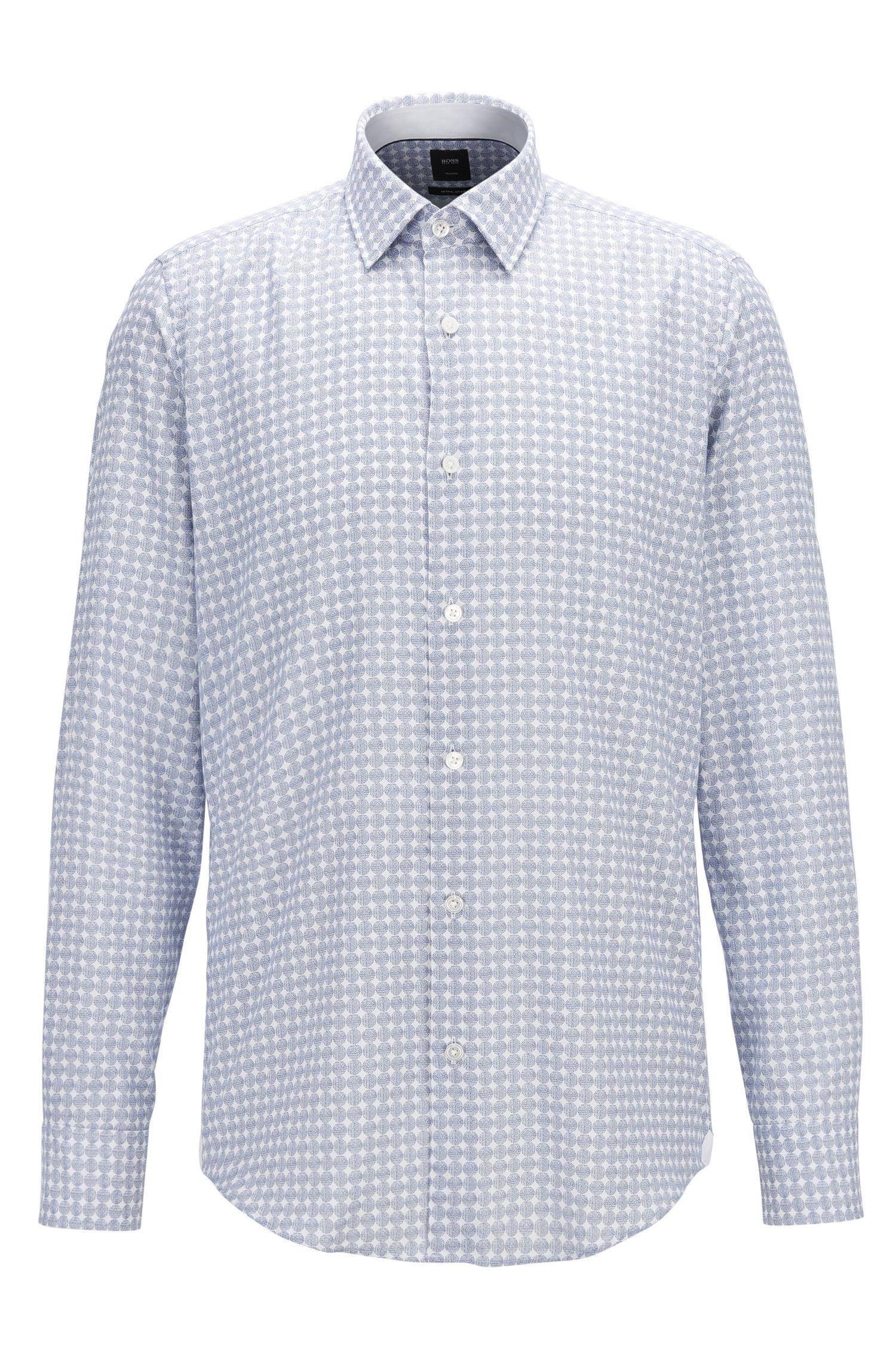 Regular-fit overhemd van katoenflanel met geometrische print