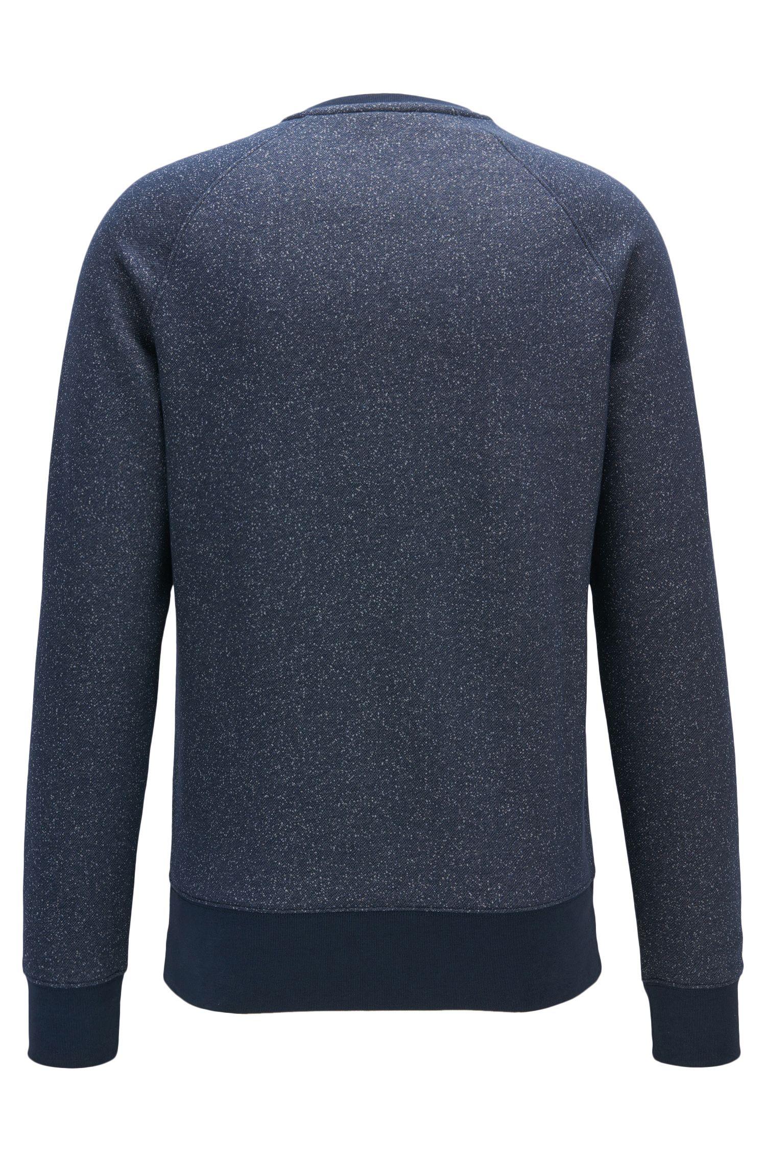 Mouliné sweatshirt van een zachte katoenmix