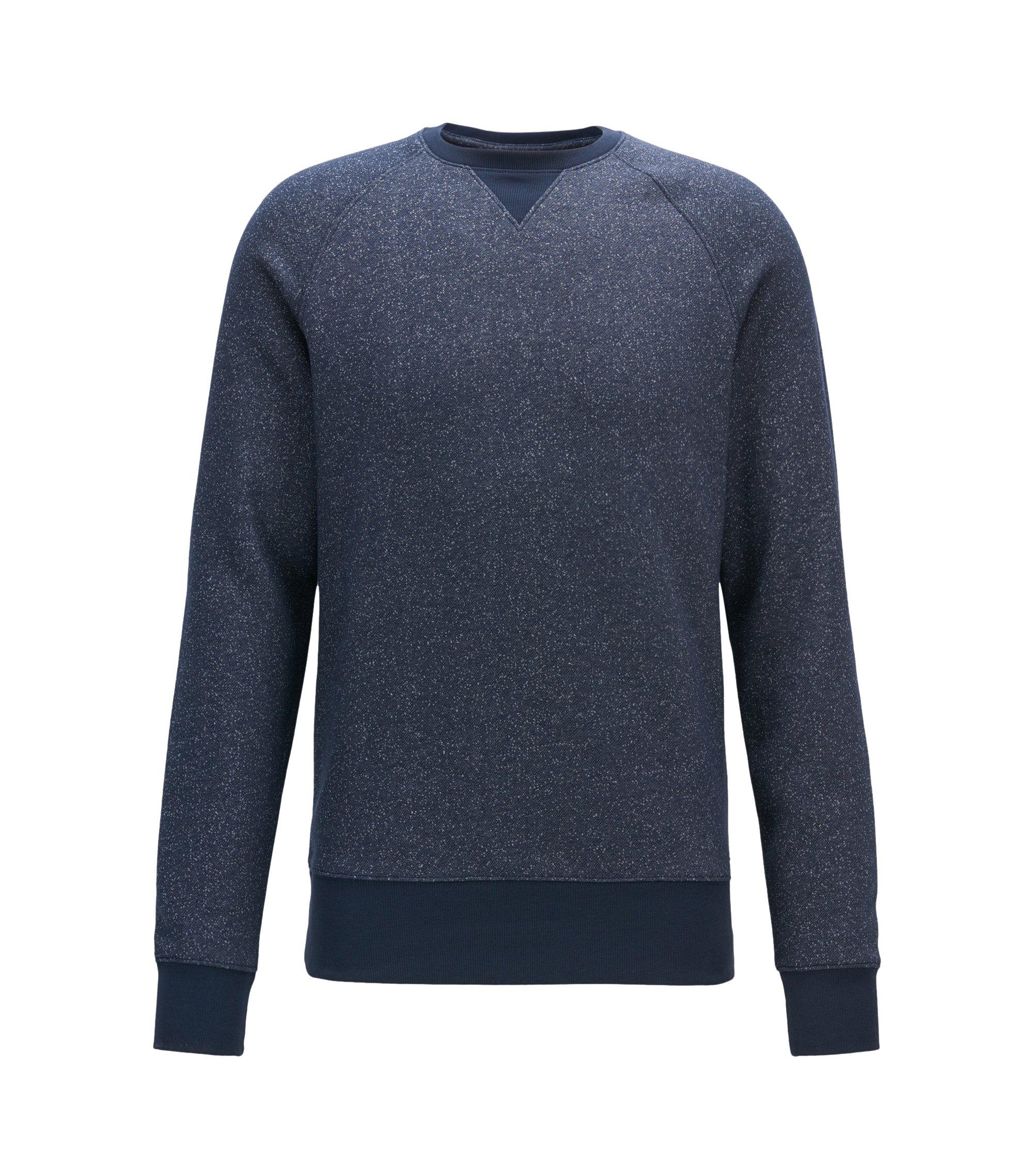 Meliertes Sweatshirt aus softemBaumwoll-Mix , Dunkelblau