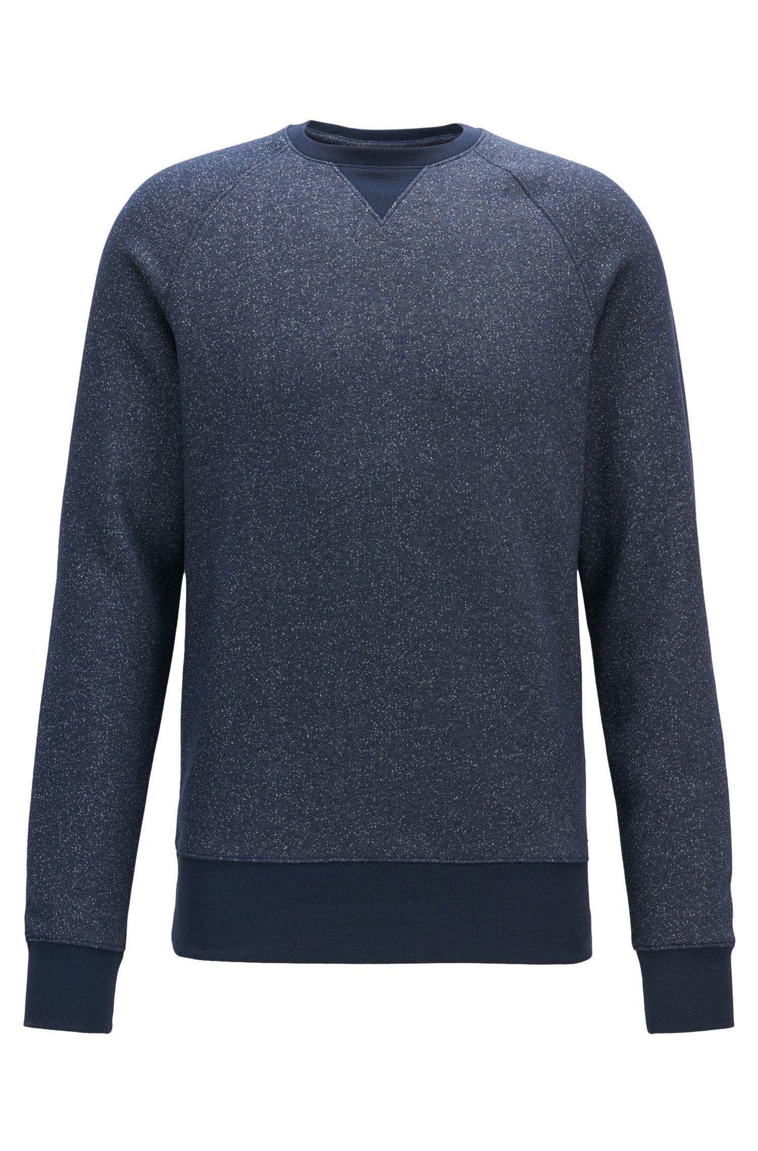Meliertes Sweatshirt aus softemBaumwoll-Mix