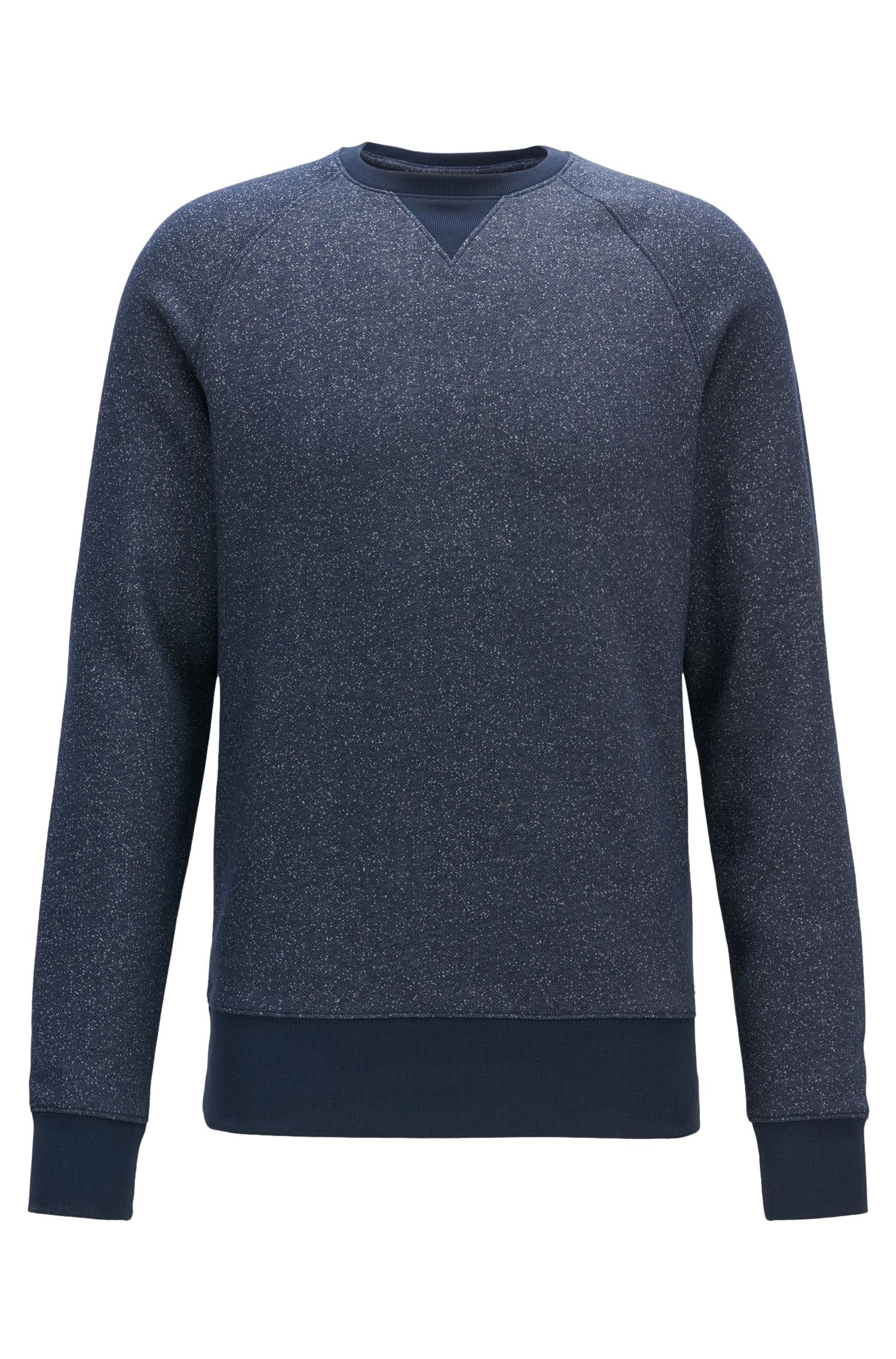 Mouliné sweatshirt in a soft cotton blend