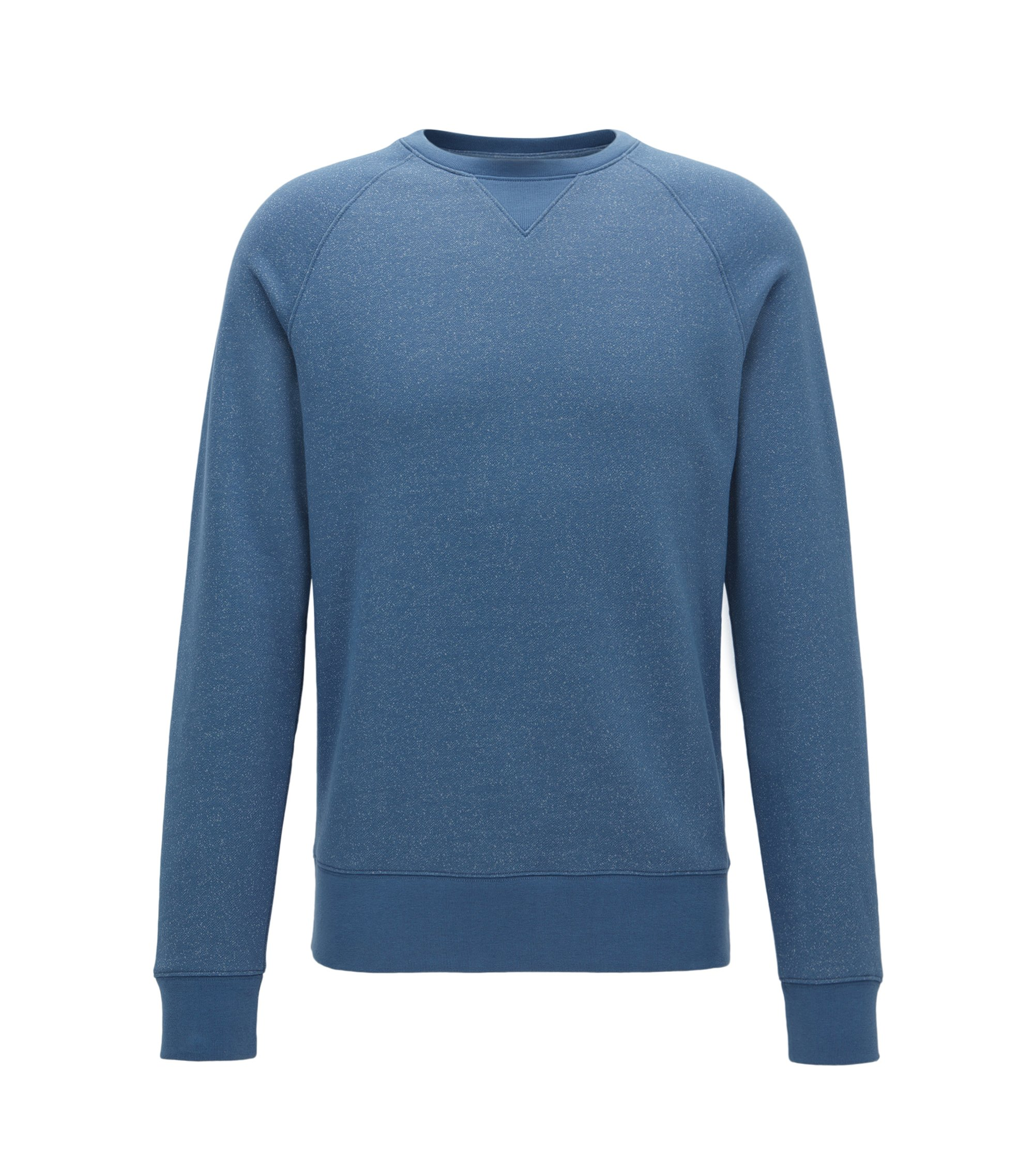 Mouliné sweatshirt in a soft cotton blend , Blue