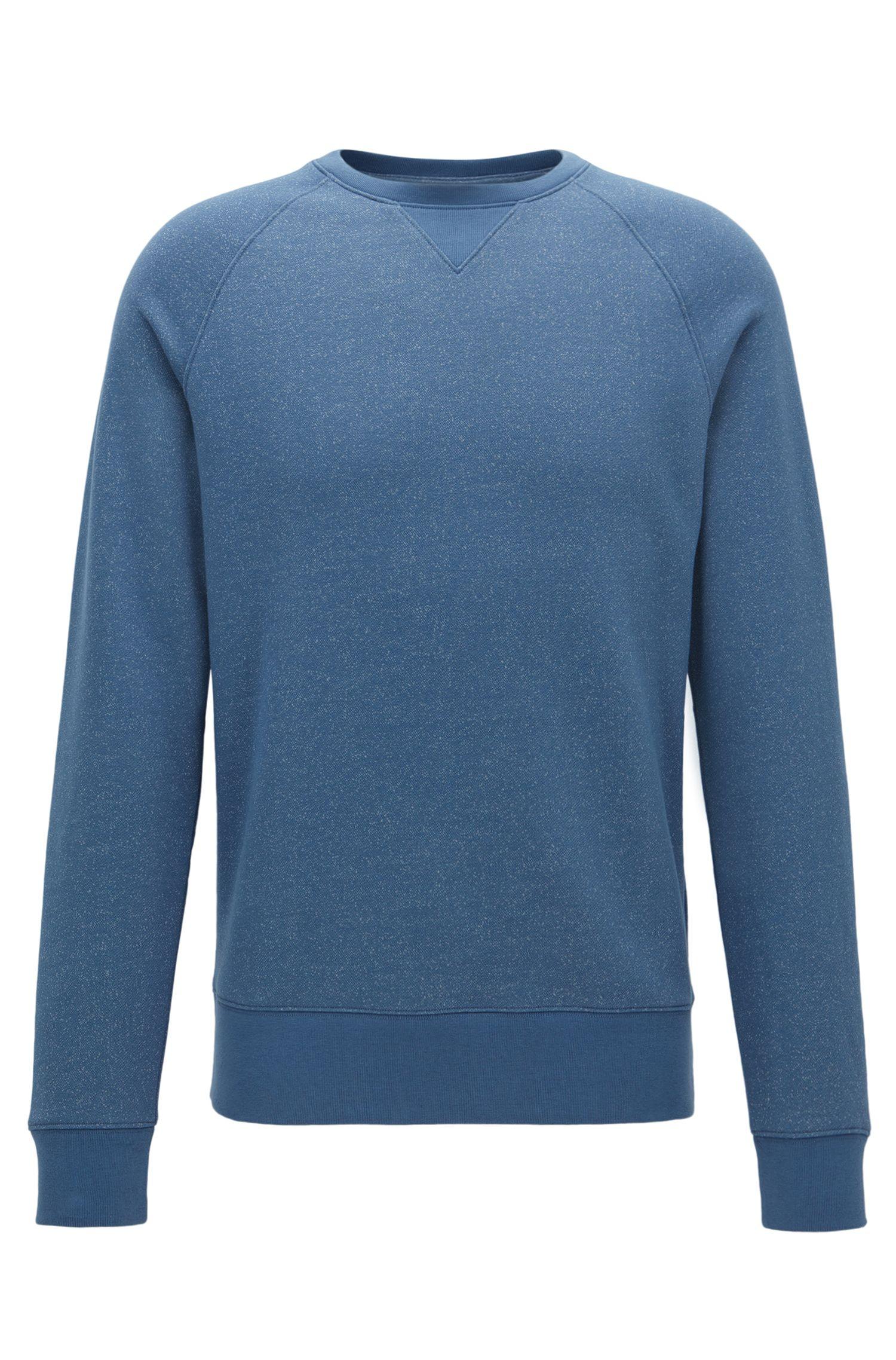 Sweat en coton doux mouliné et mélangé , Bleu