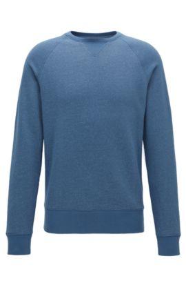 Mouliné sweatshirt van een zachte katoenmix , Blauw
