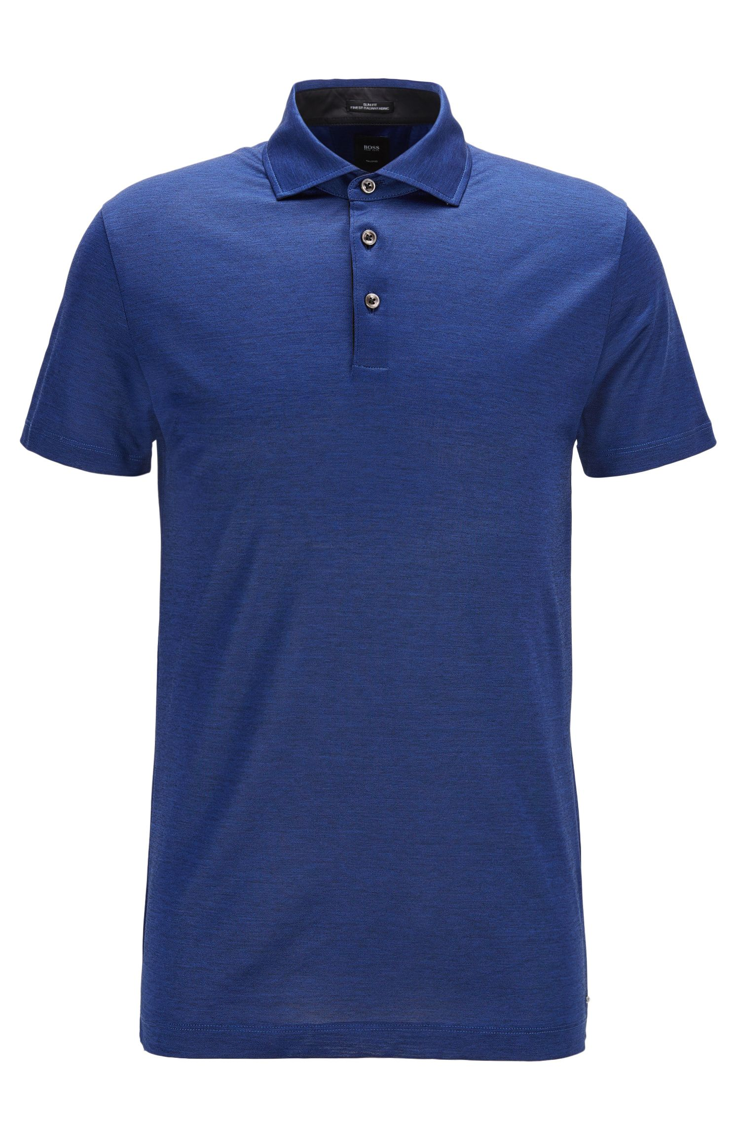 Polo slim fit in cotone italiano