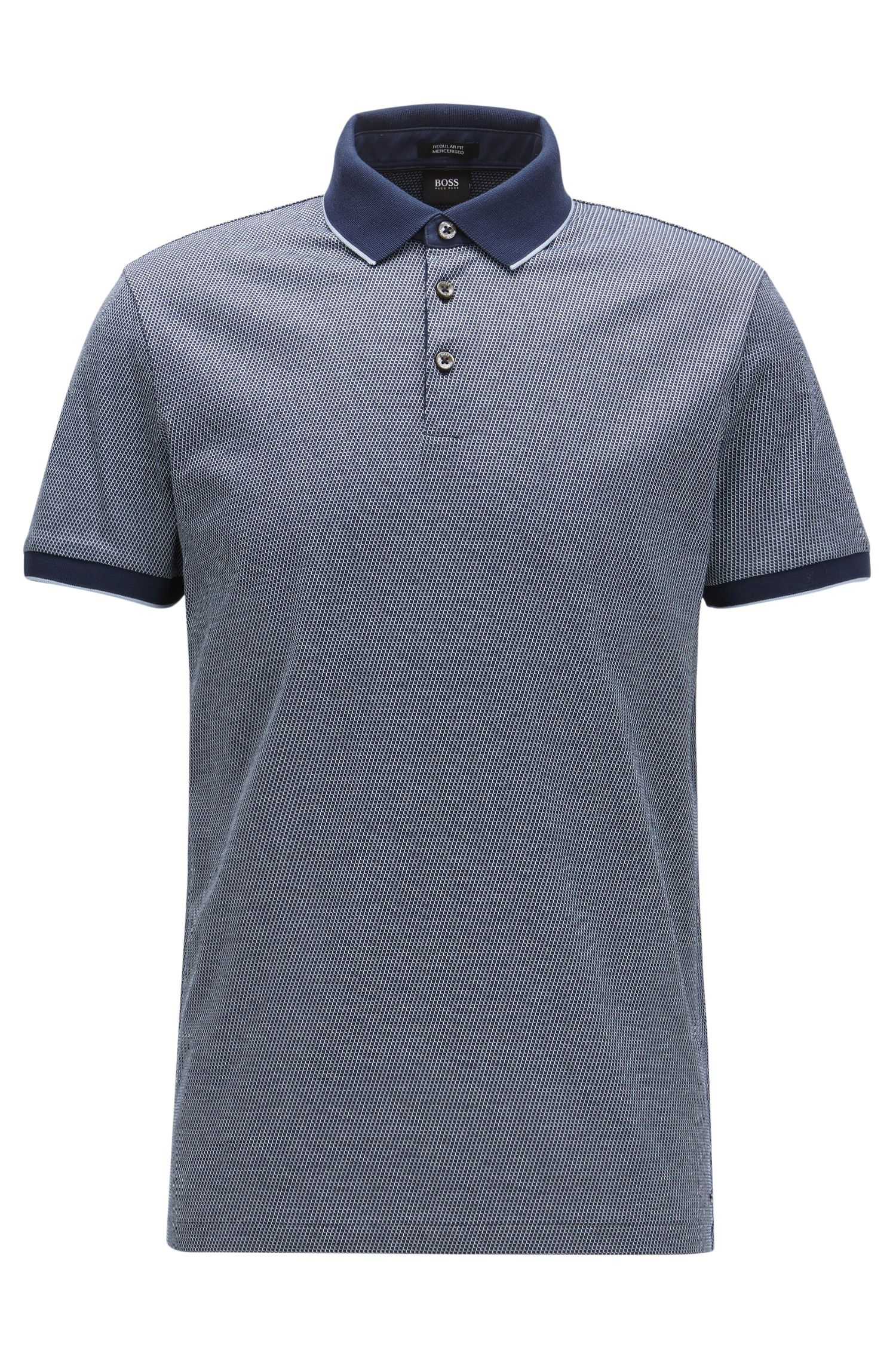 Polo regular fit in cotone jacquard
