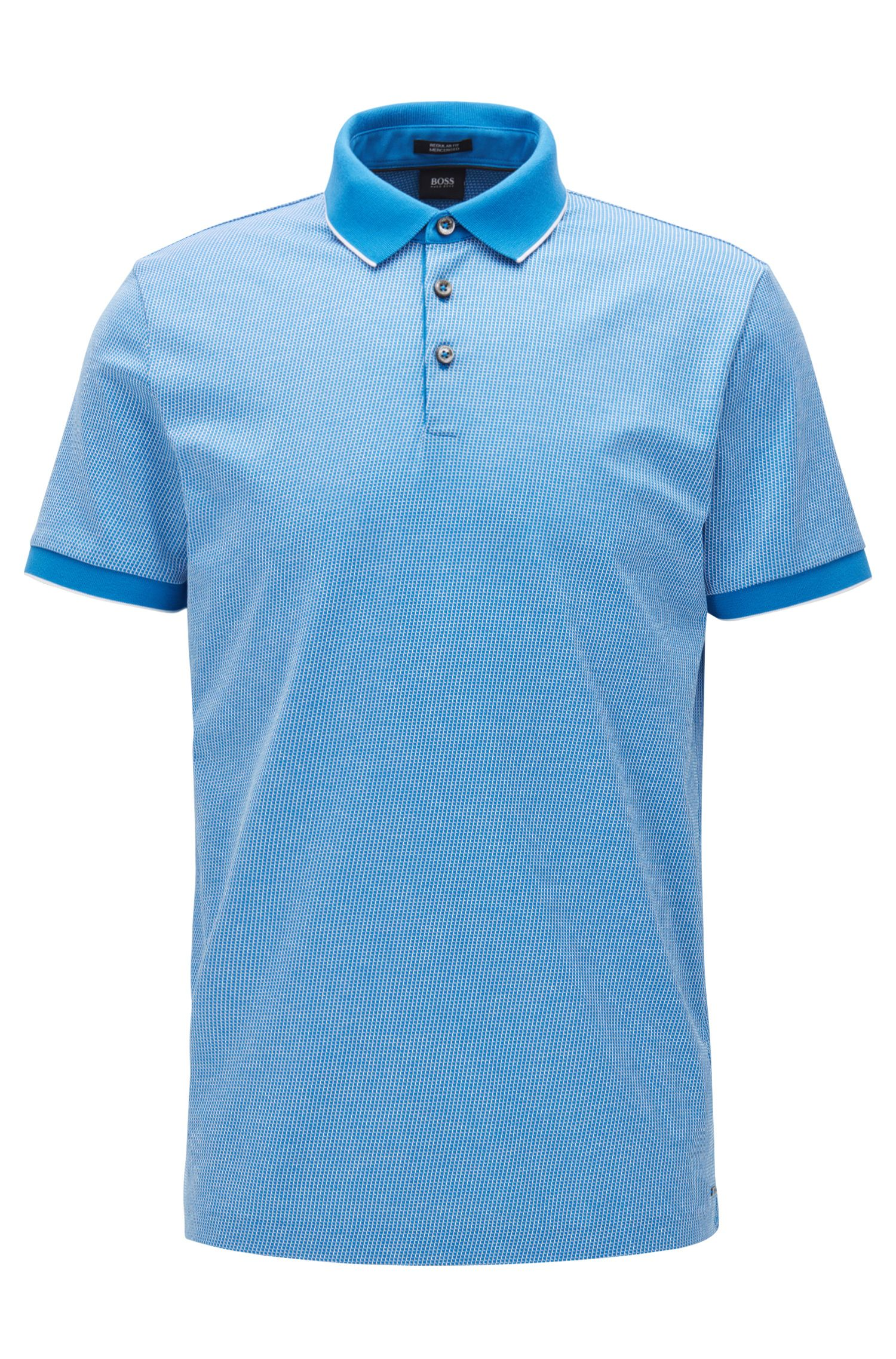 Regular-fit polo shirt in cotton jacquard
