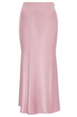 A-line skirt in fluid fabric, Purple