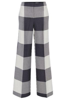Pantalones relaxed fit de algodón con pierna holgada , Fantasía
