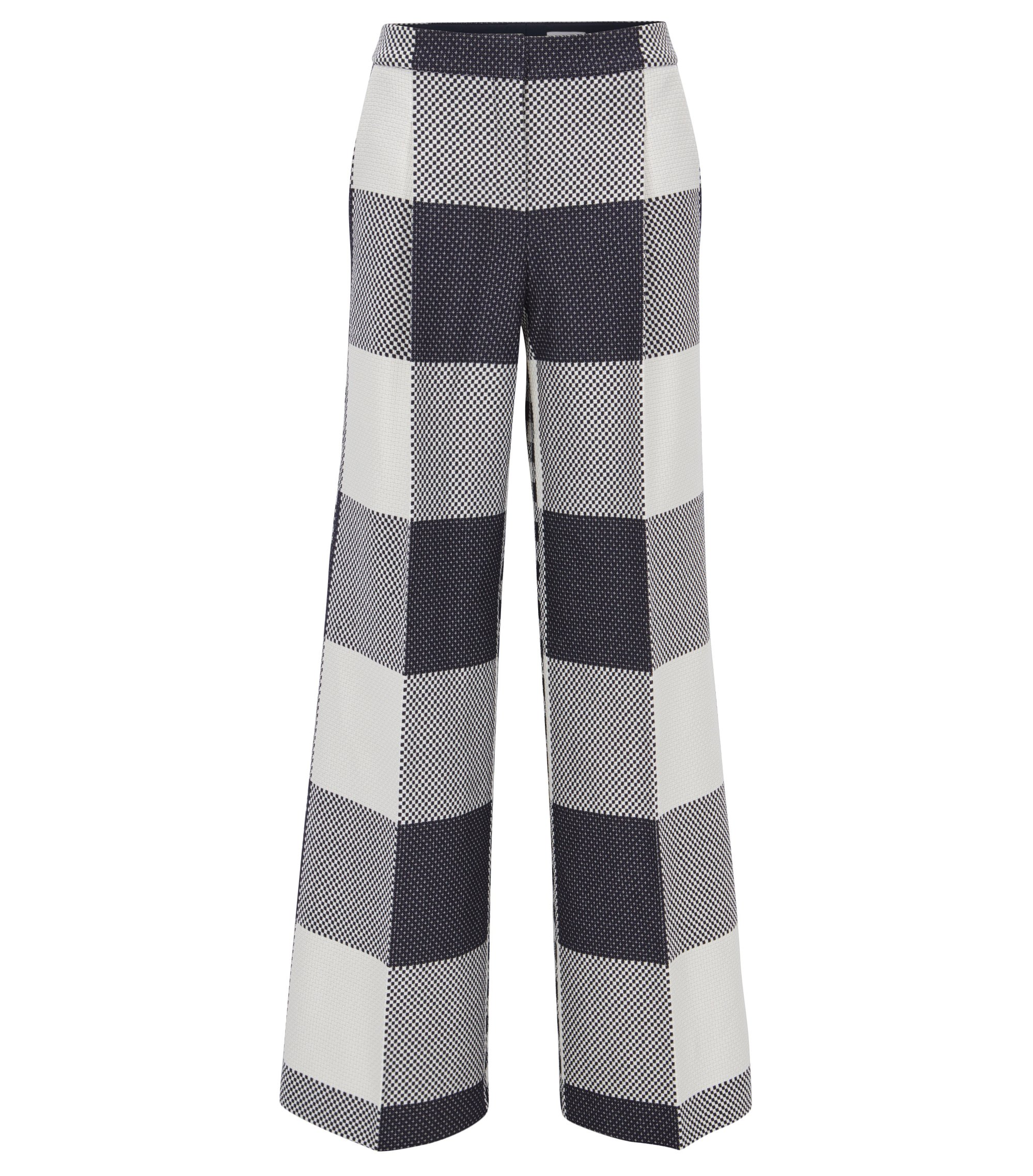 Relaxed-fit cotton wide-leg trousers , Patterned