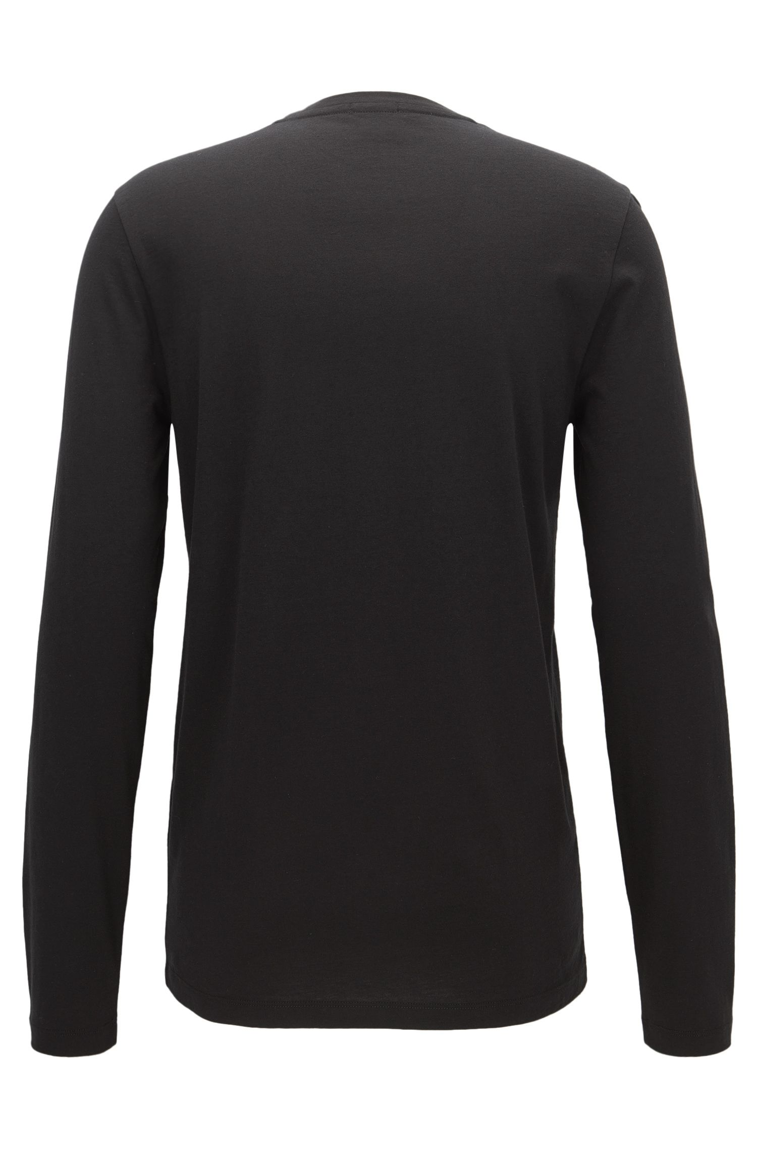 Long-sleeved T-shirt in a cotton blend