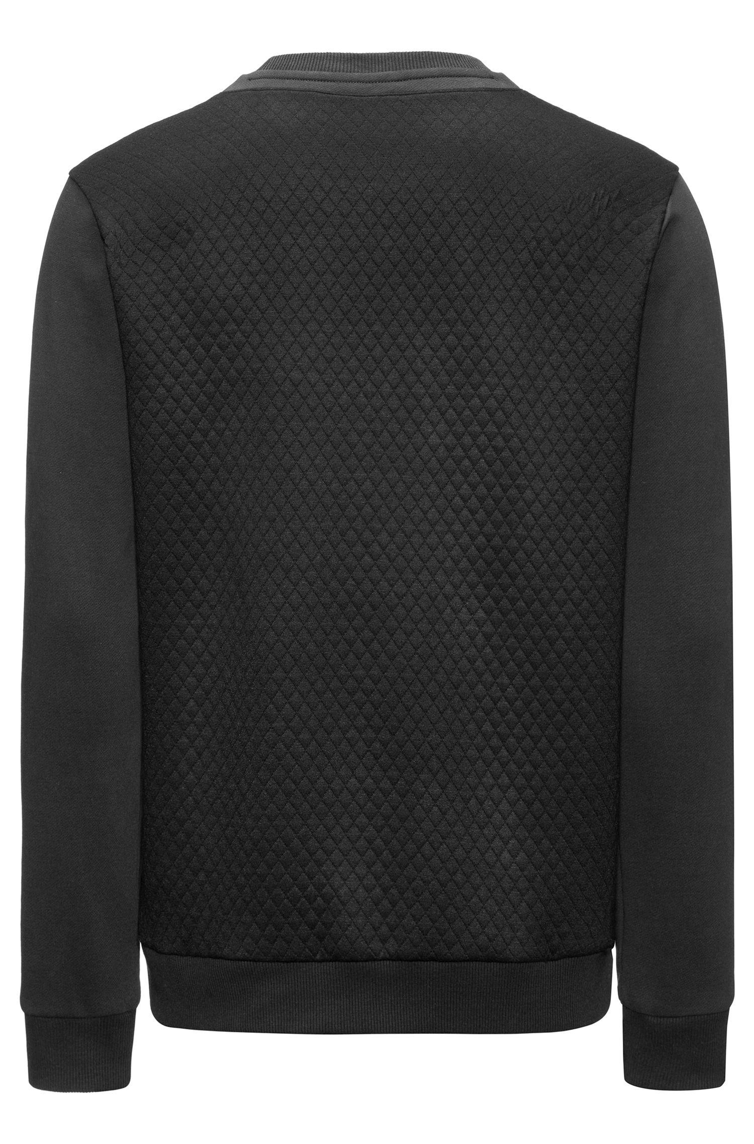 Maglione in cotone con pannelli trapuntati