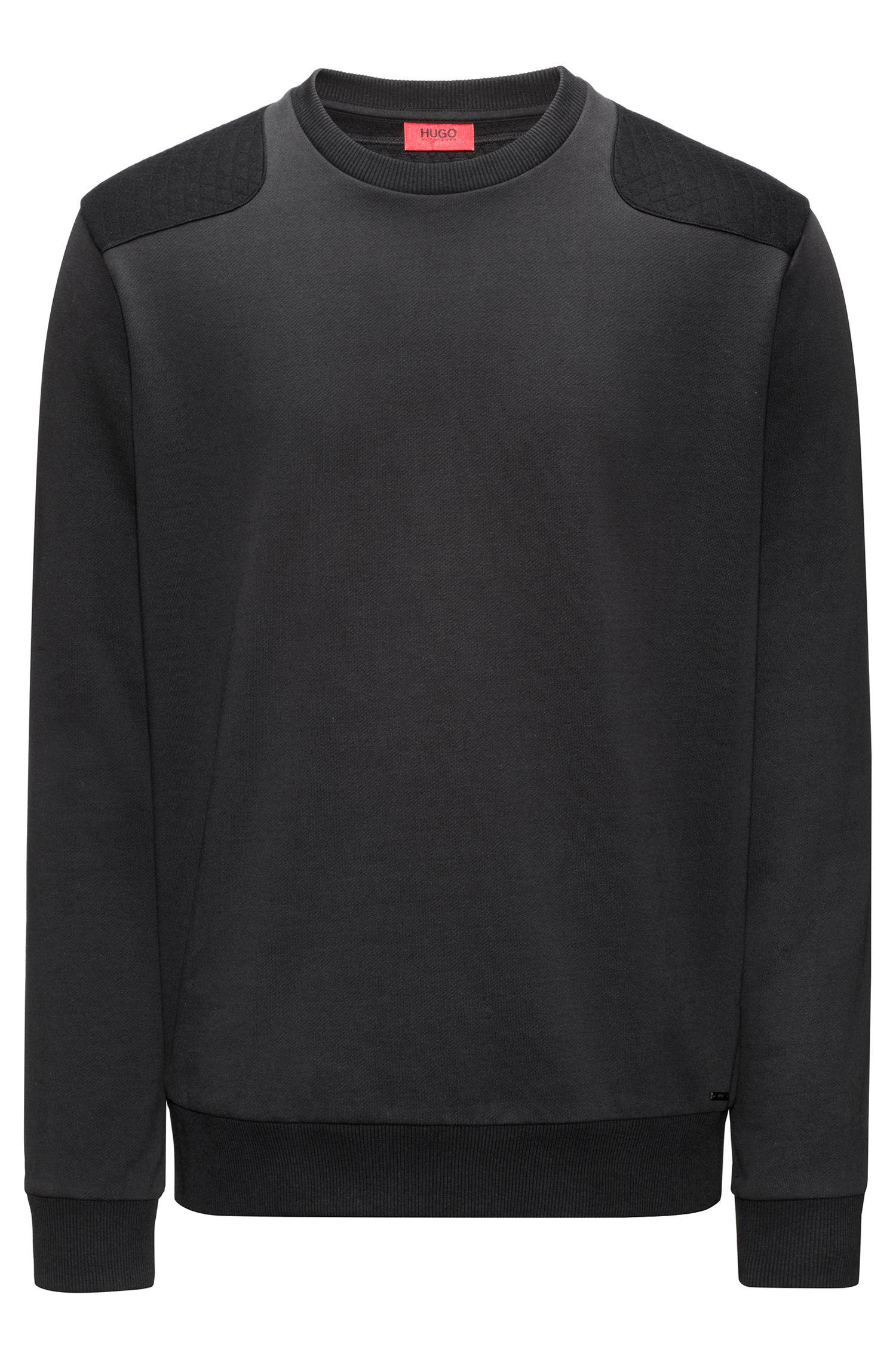 Pullover aus Baumwolle mit Stepp-Details
