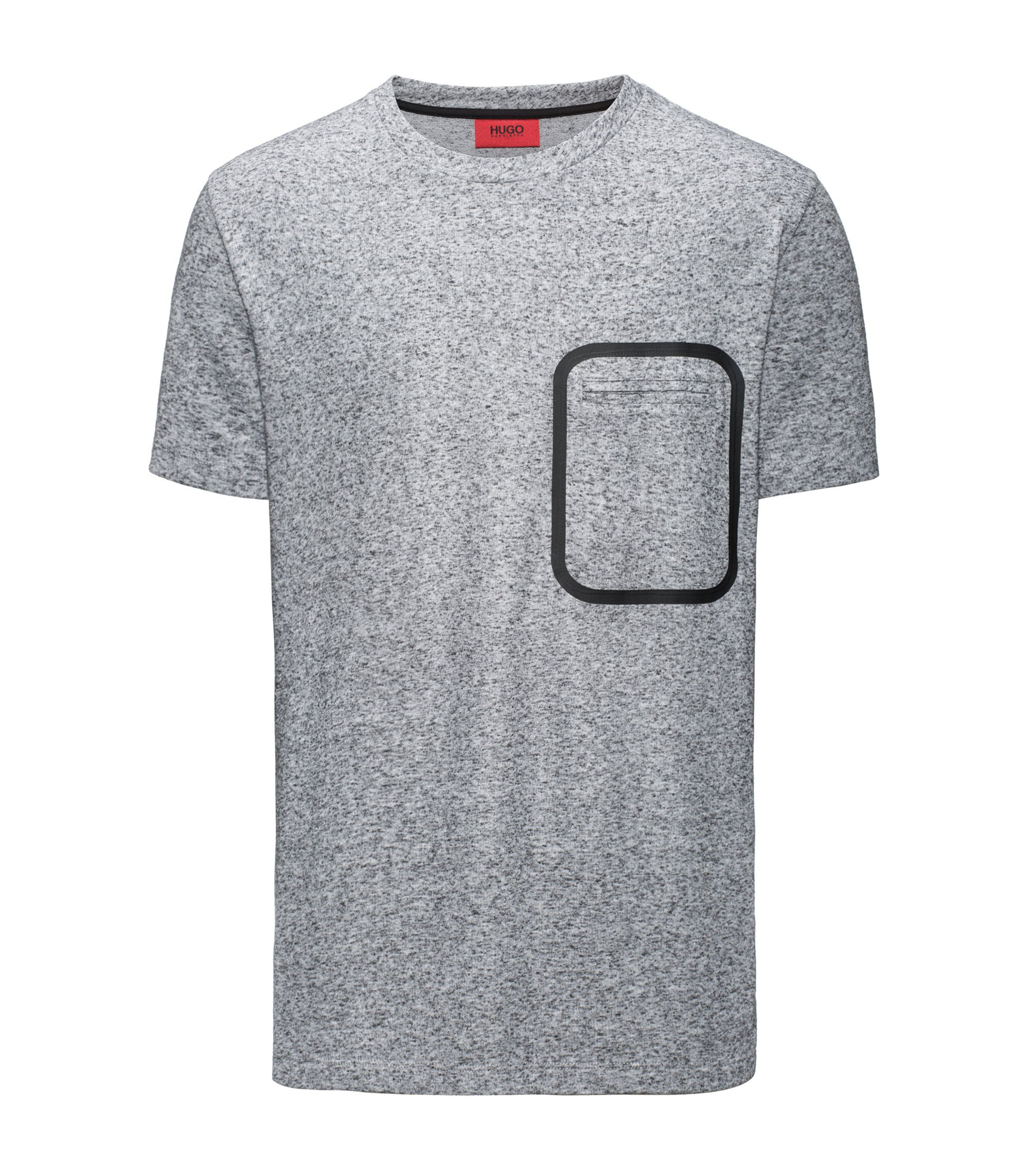 Oversize T-Shirt aus meliertem French Terry, Grau
