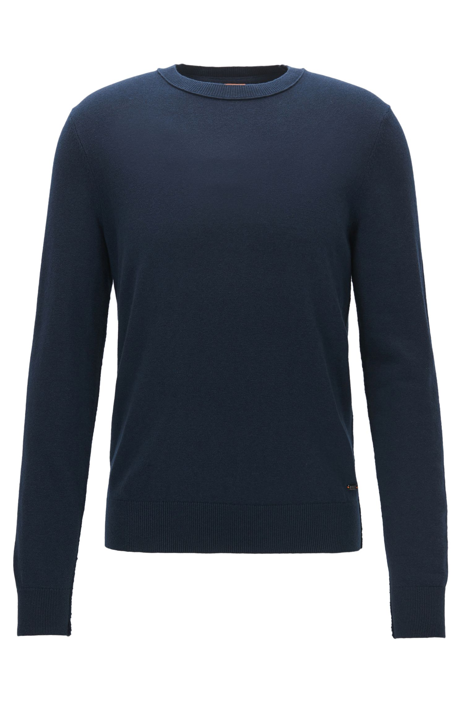 Lightweight sweater with broken-edge detailing