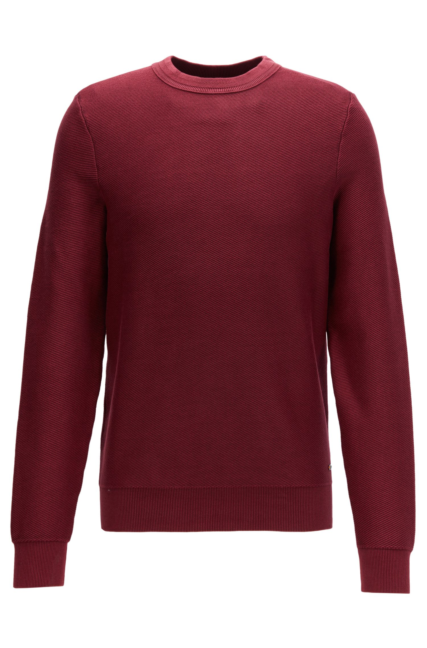 Crew-neck sweater in stonewashed cotton