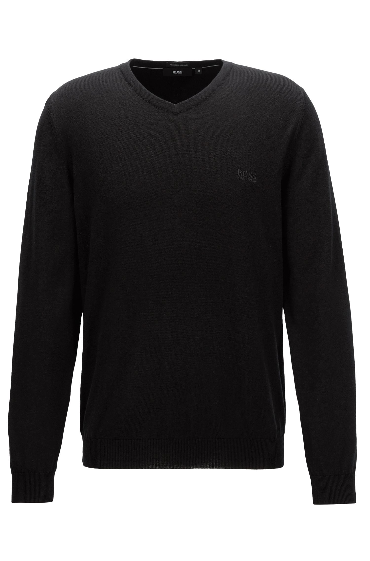 V-neck sweater in Italian cotton