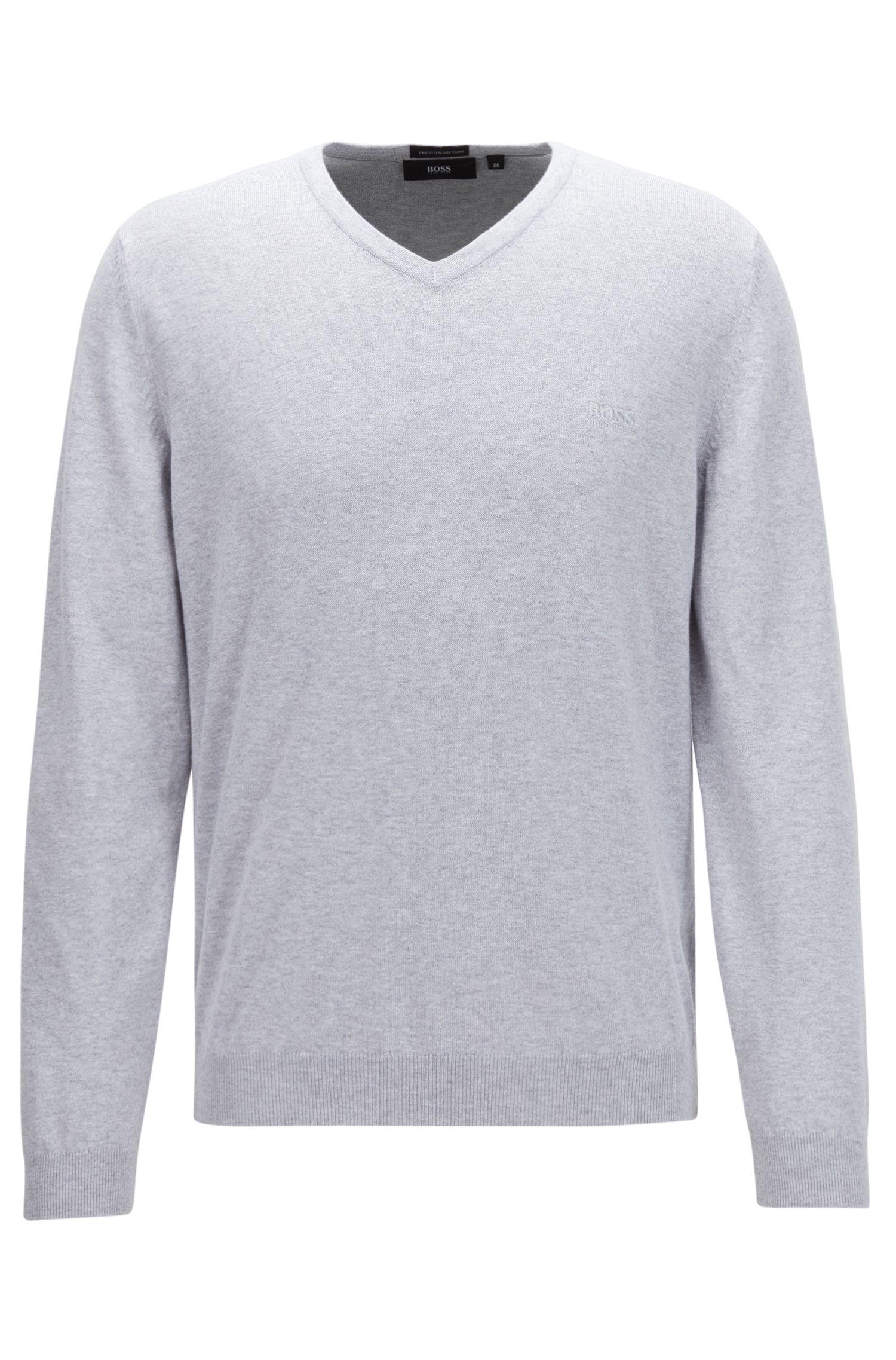 V-neck sweater in Italian cotton