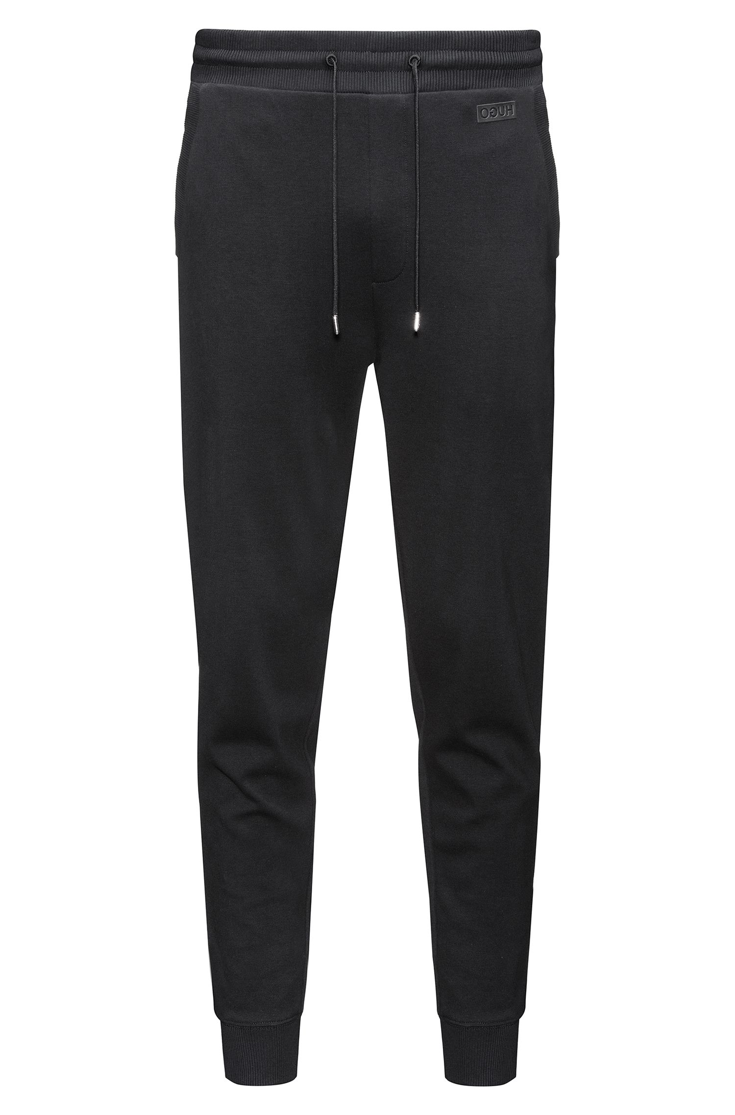 Pantalon Regular Fit en coton interlock