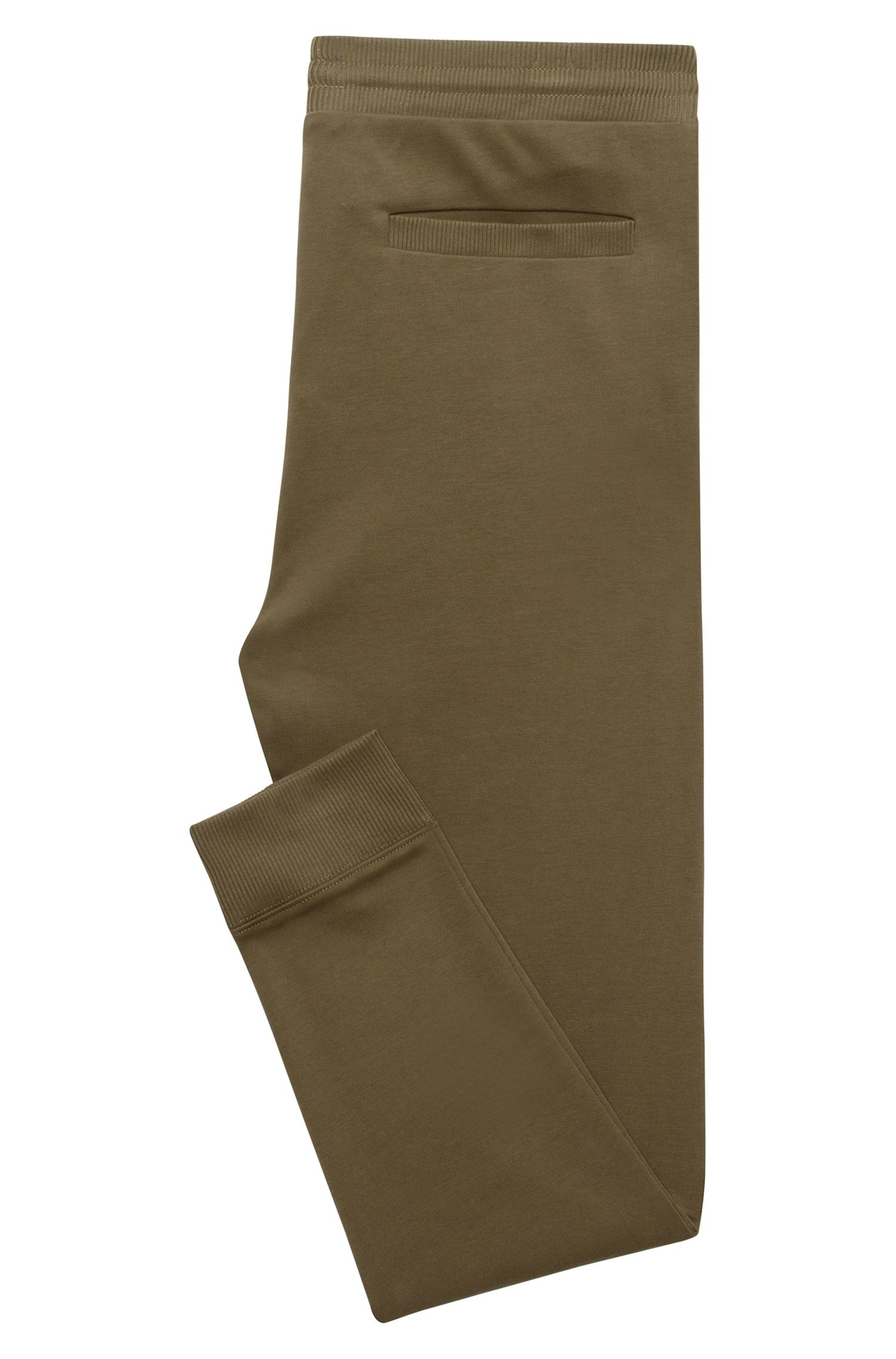 Regular-fit trousers in interlock cotton
