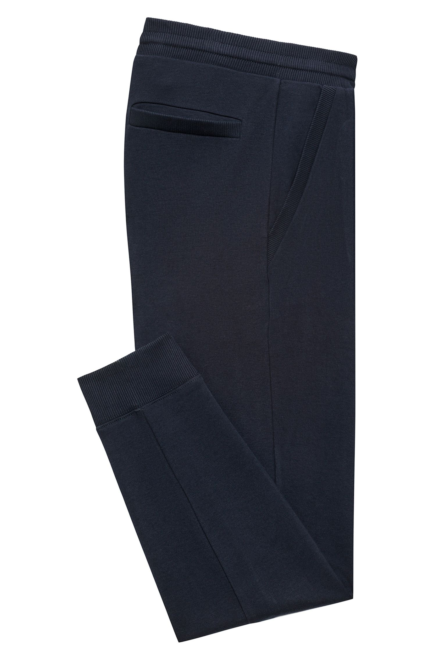 Pantalones regular fit en algodón interlock