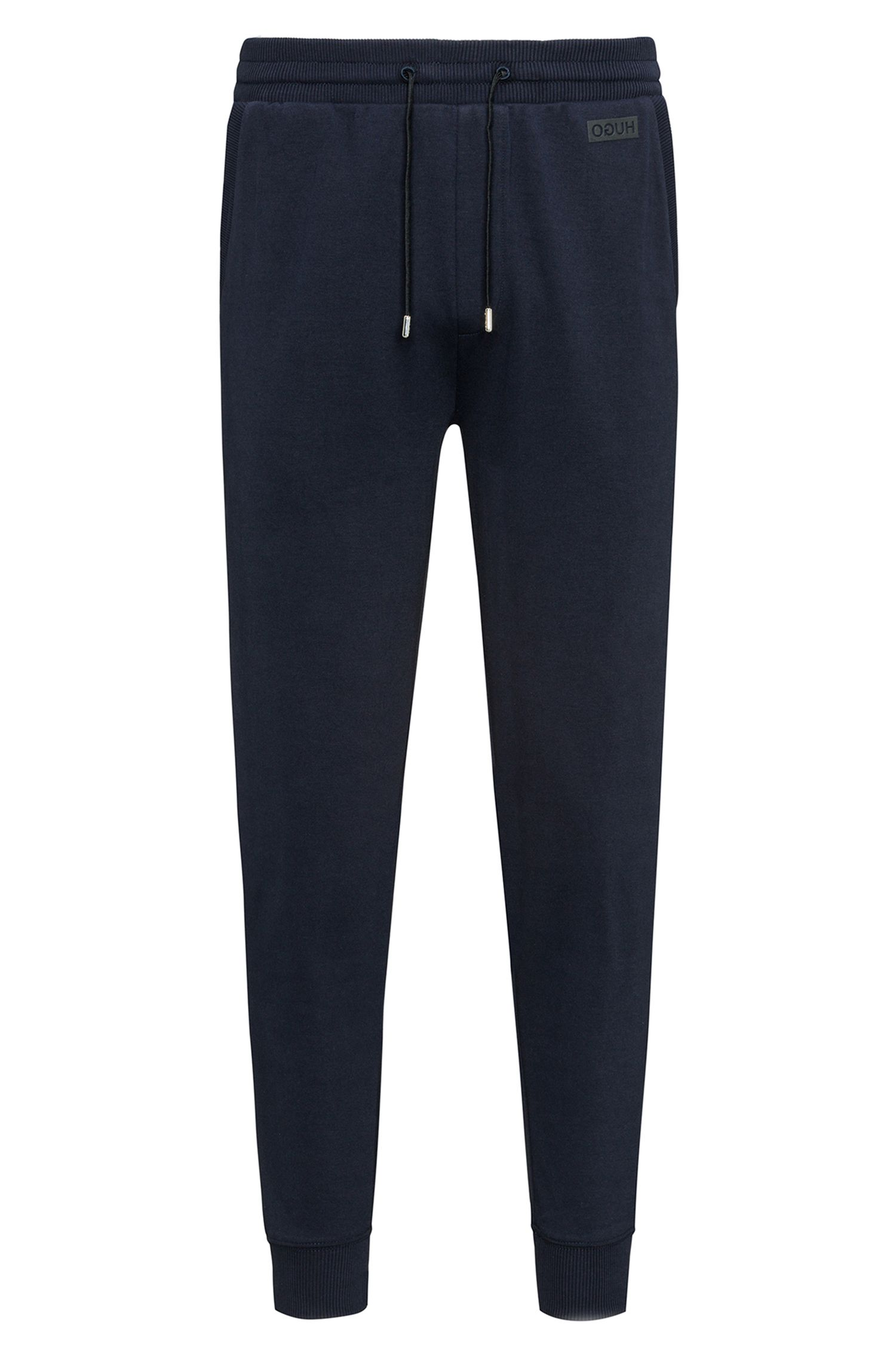 Pantaloni regular fit in cotone intrecciato