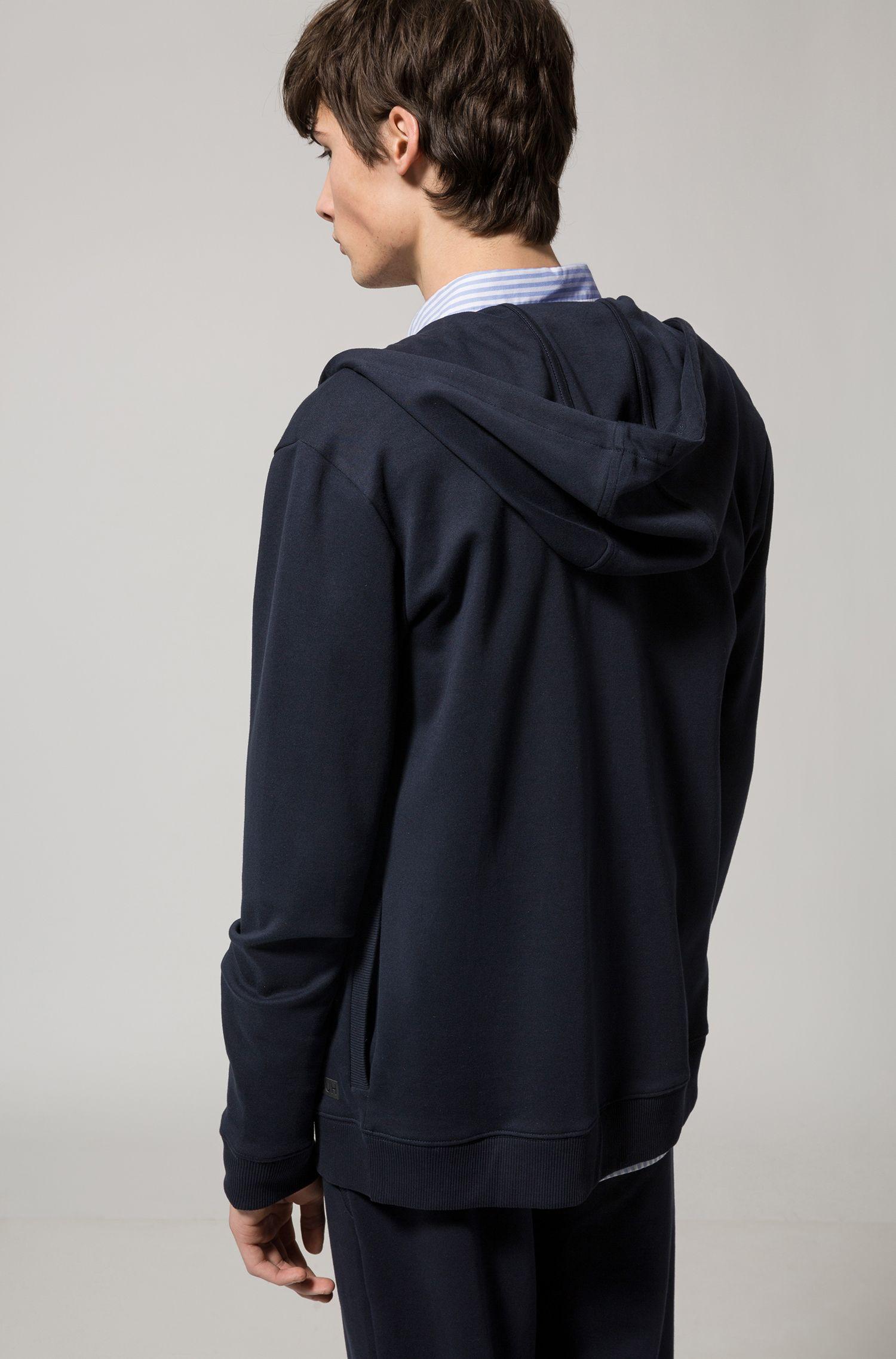 Kapuzenjacke aus Baumwolle mit Reißverschluss