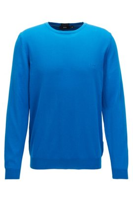Crew-neck cotton sweater with logo embroidery BOSS Clearance Cheap Price Footlocker Pictures For Sale 83TDVe